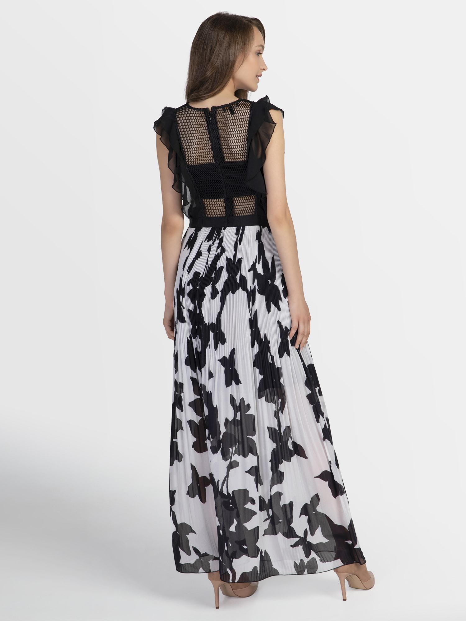 APART Vakarinė suknelė juoda / kremo