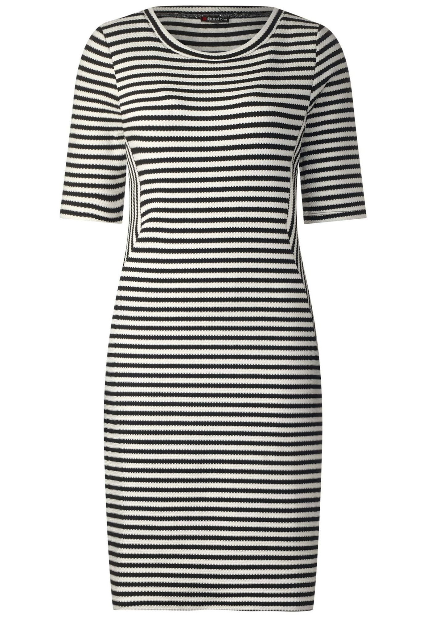STREET ONE Kleid schwarz / weiß - Schwarzes Kleid