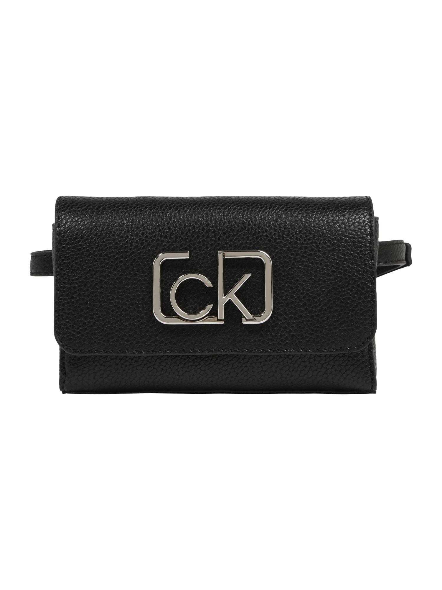 Calvin Klein Rankinė ant juosmens 'CK SIGNATURE BELTBAG' juoda