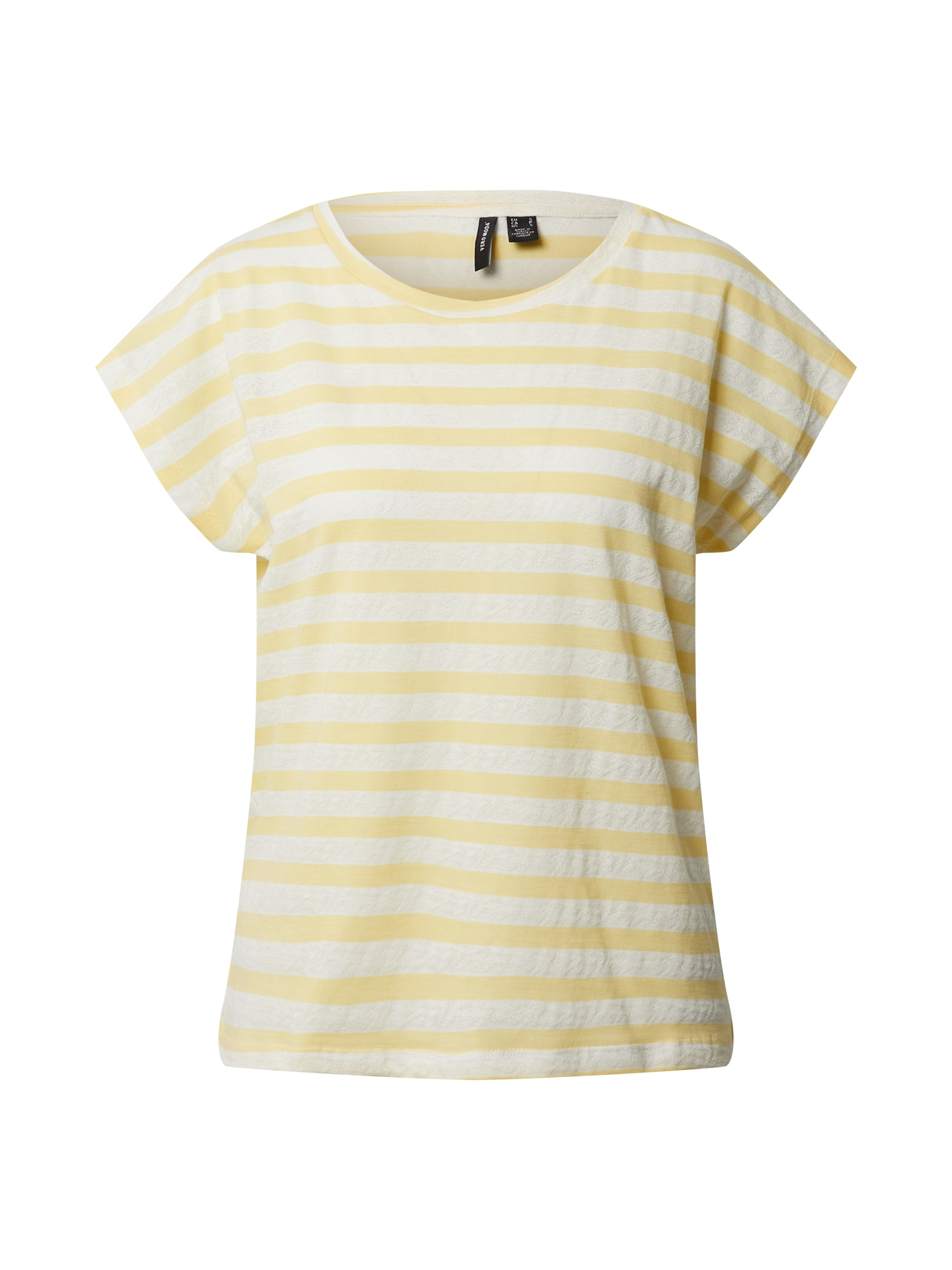 VERO MODA Tričko 'OSRA AVA'  žlté / biela