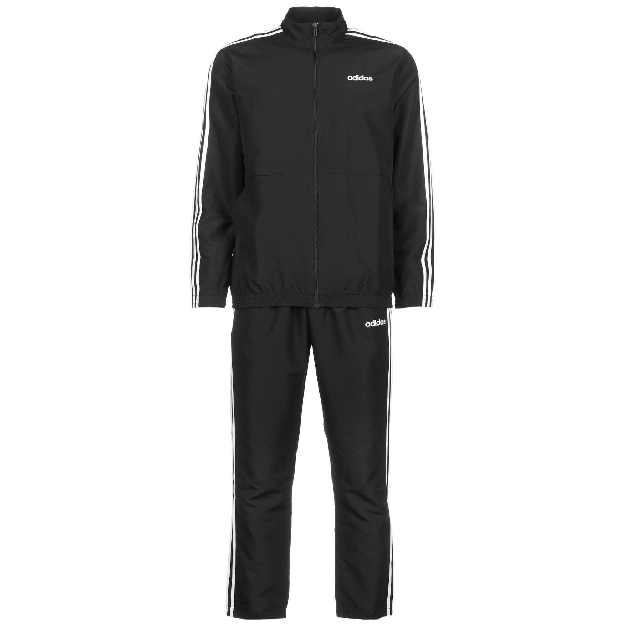 ADIDAS PERFORMANCE Treniruočių kostiumas balta / juoda