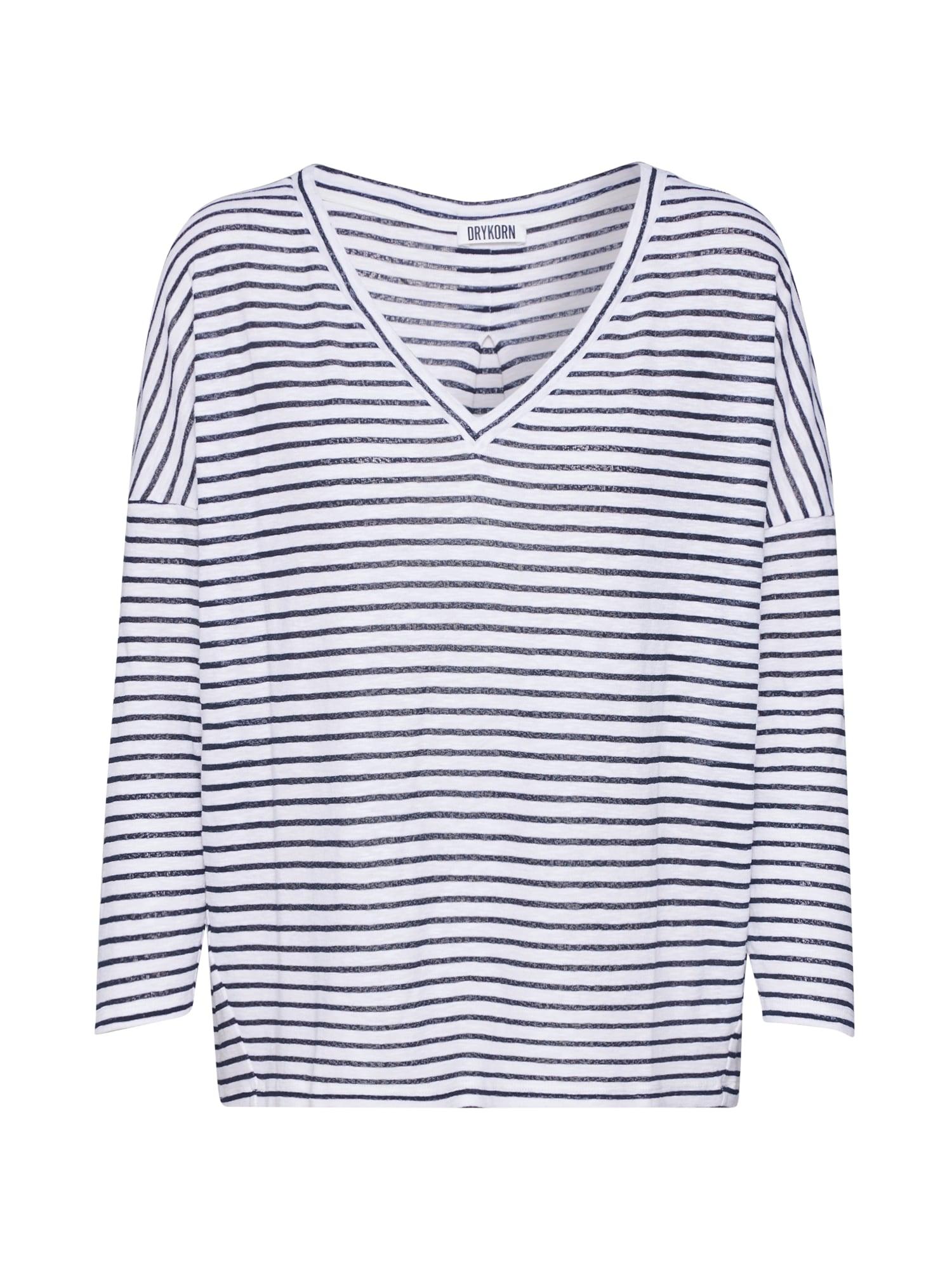 DRYKORN Marškinėliai 'VENJA' juoda / balta