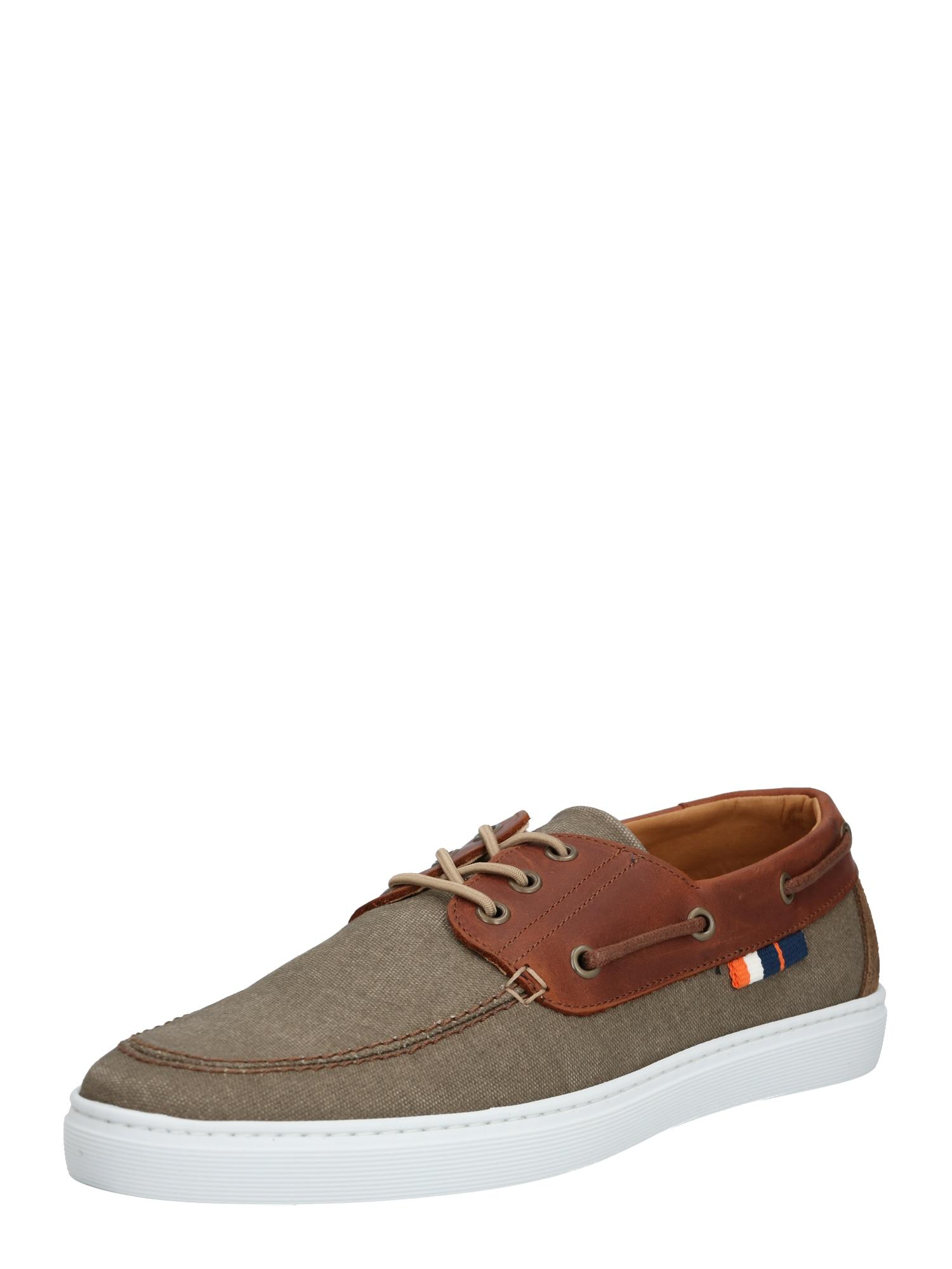 BULLBOXER Sportinio stiliaus batai su raišteliais ruda / smėlio