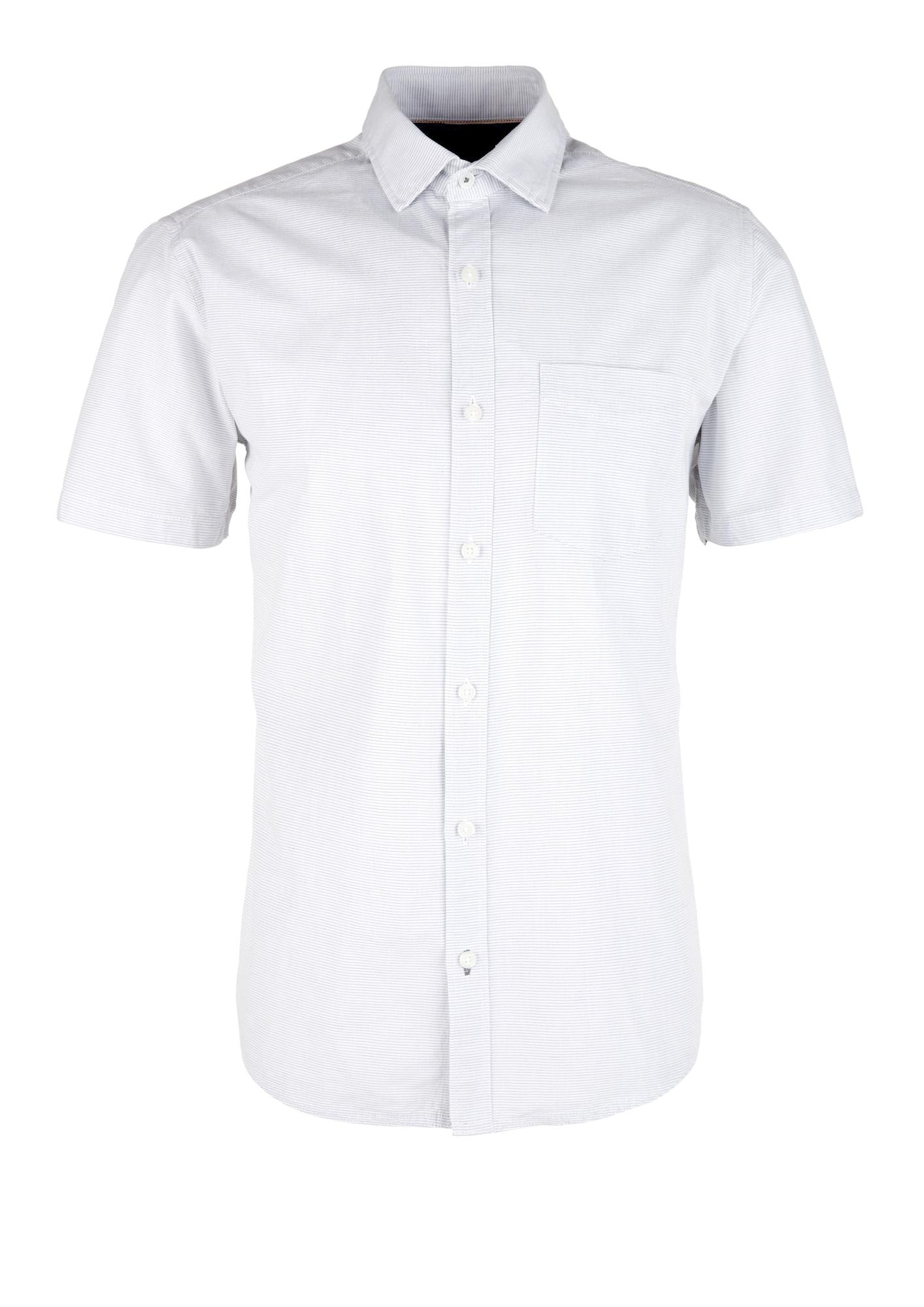 s.Oliver Košile  bílá / šedý melír