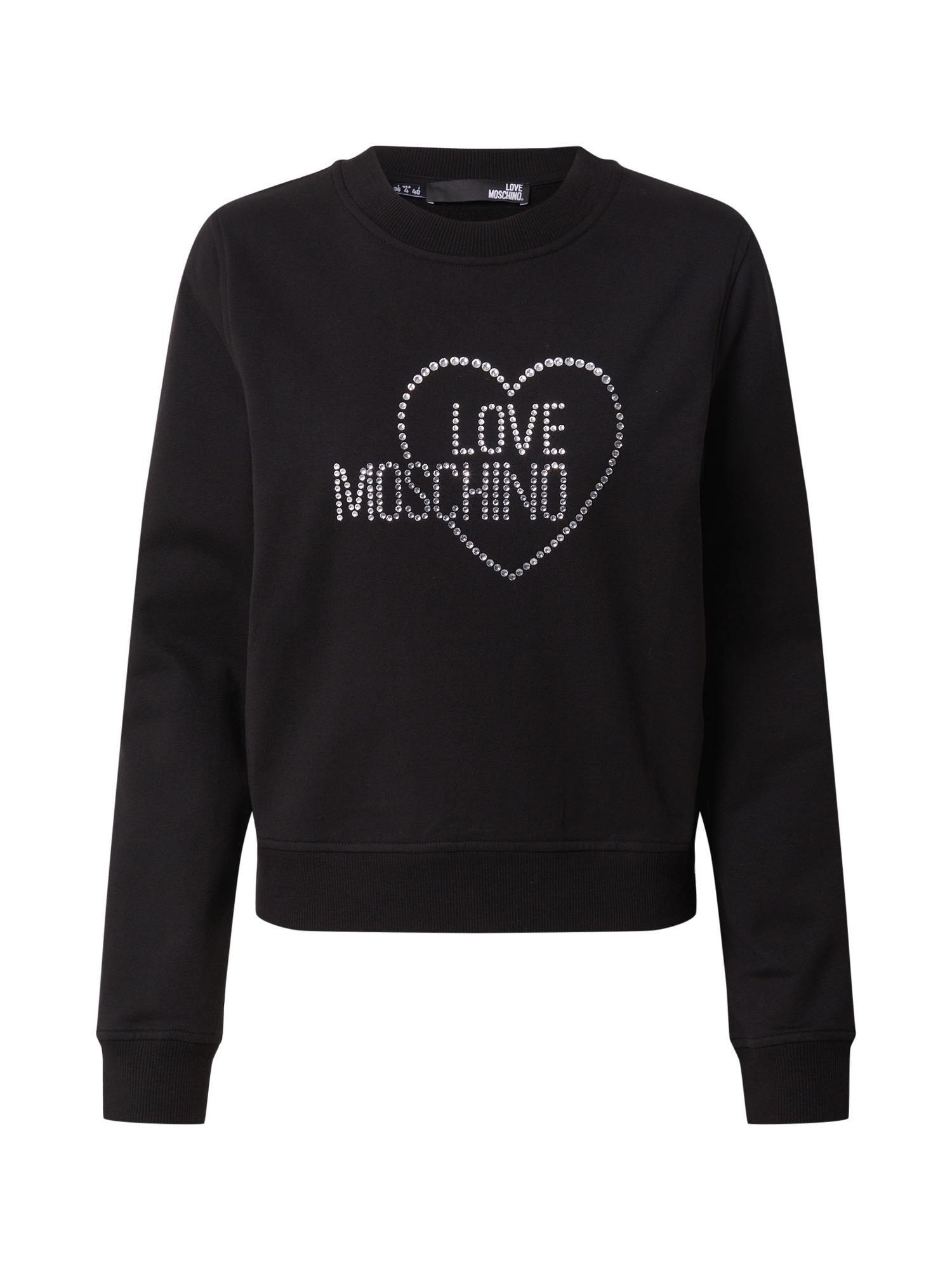 Love Moschino Megztinis be užsegimo juoda