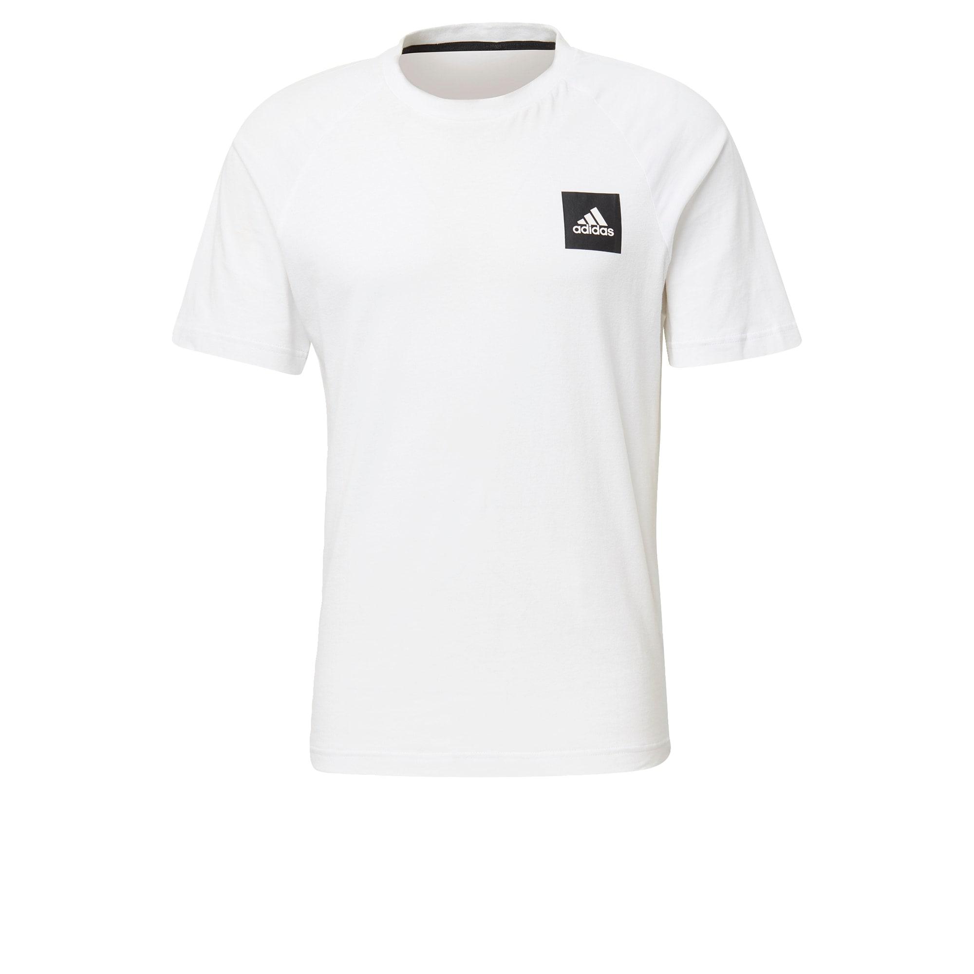 ADIDAS PERFORMANCE Sportiniai marškinėliai 'MHE Tee STA' juoda / balta