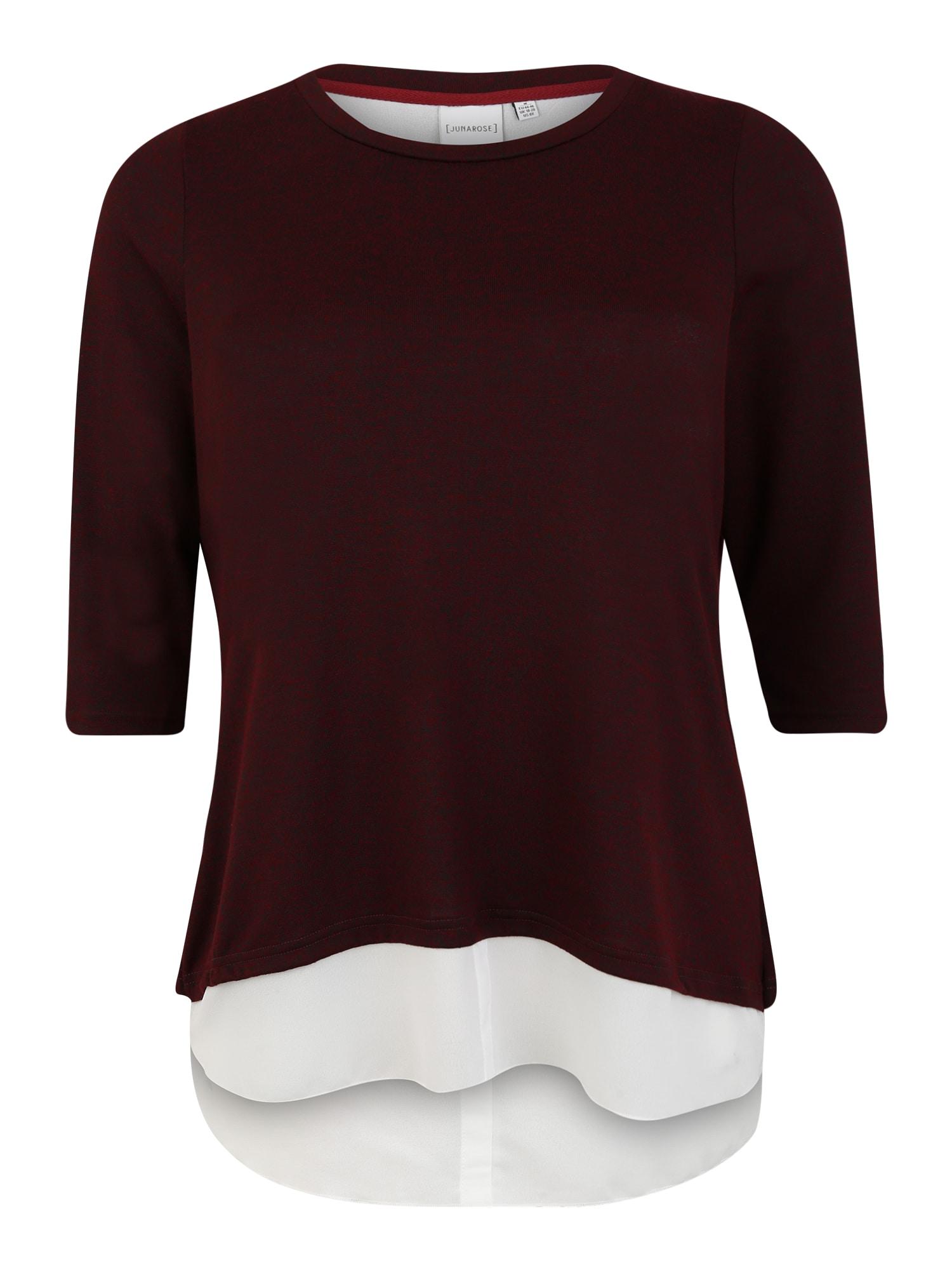 Junarose Marškinėliai vyno raudona spalva