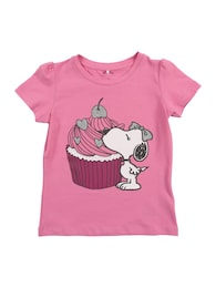 NAME IT Kinder,Mädchen T-Shirt NMFSNOOPY DALIA rosa | 05713730978109