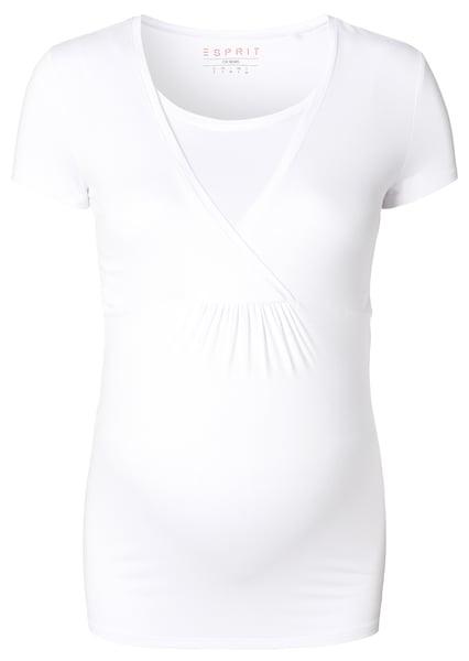 Schwangerschaftsmode für Frauen - Esprit Maternity Still Shirt weiß  - Onlineshop ABOUT YOU