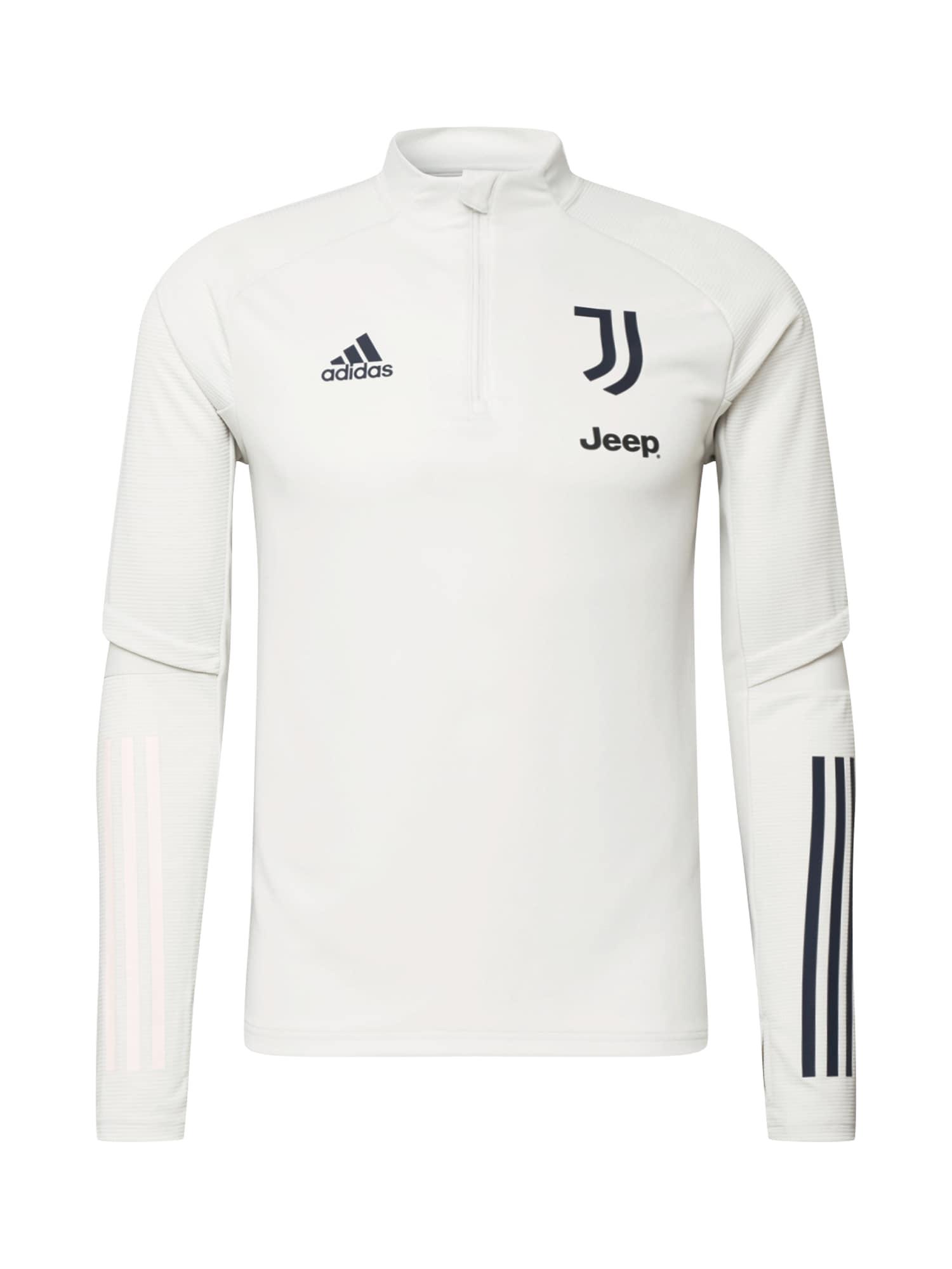 ADIDAS PERFORMANCE Sportovní mikina 'Juventus Turin'  černá / světle šedá
