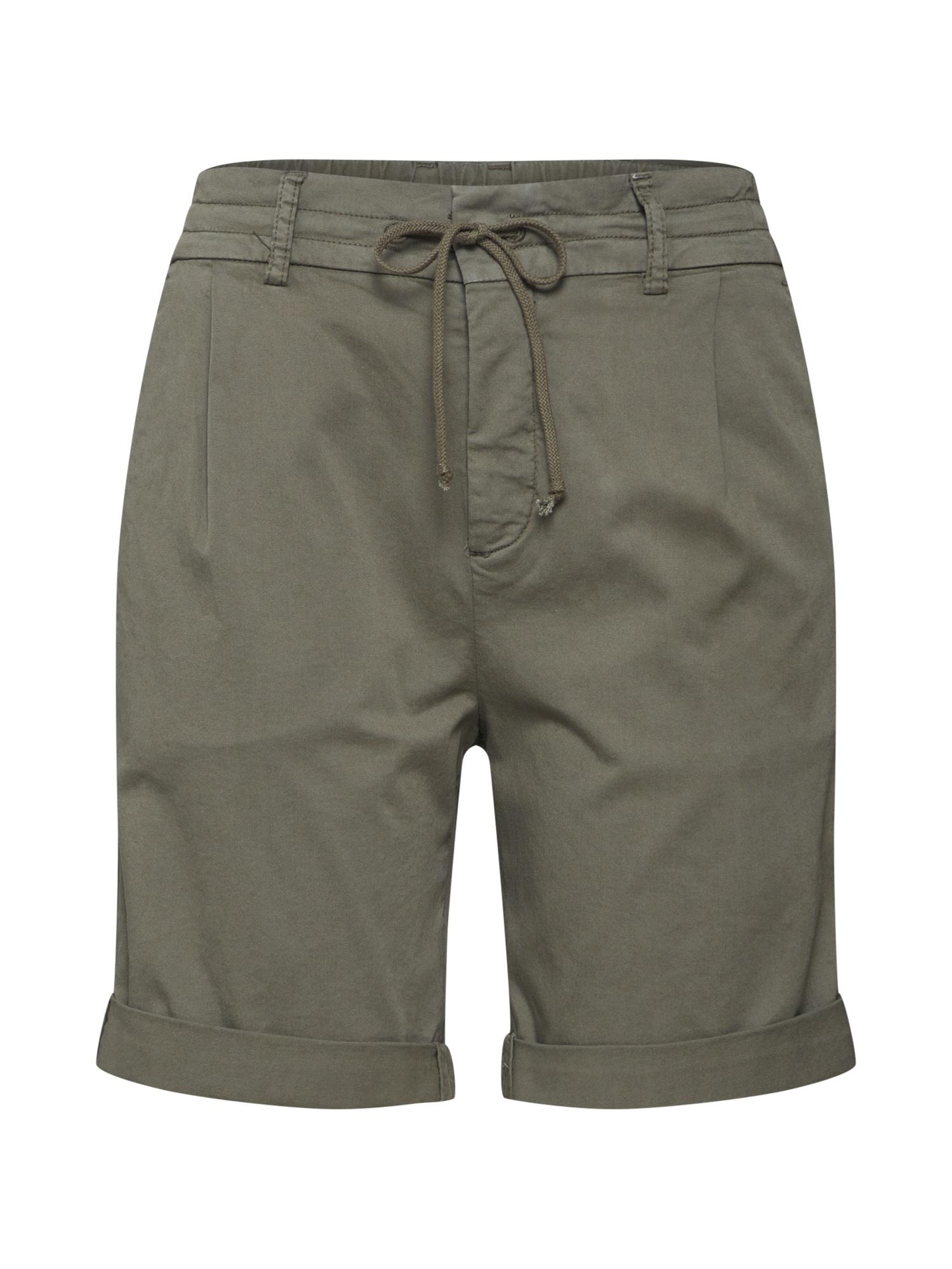 Kalhoty se sklady v pase TRAINEE khaki DRYKORN