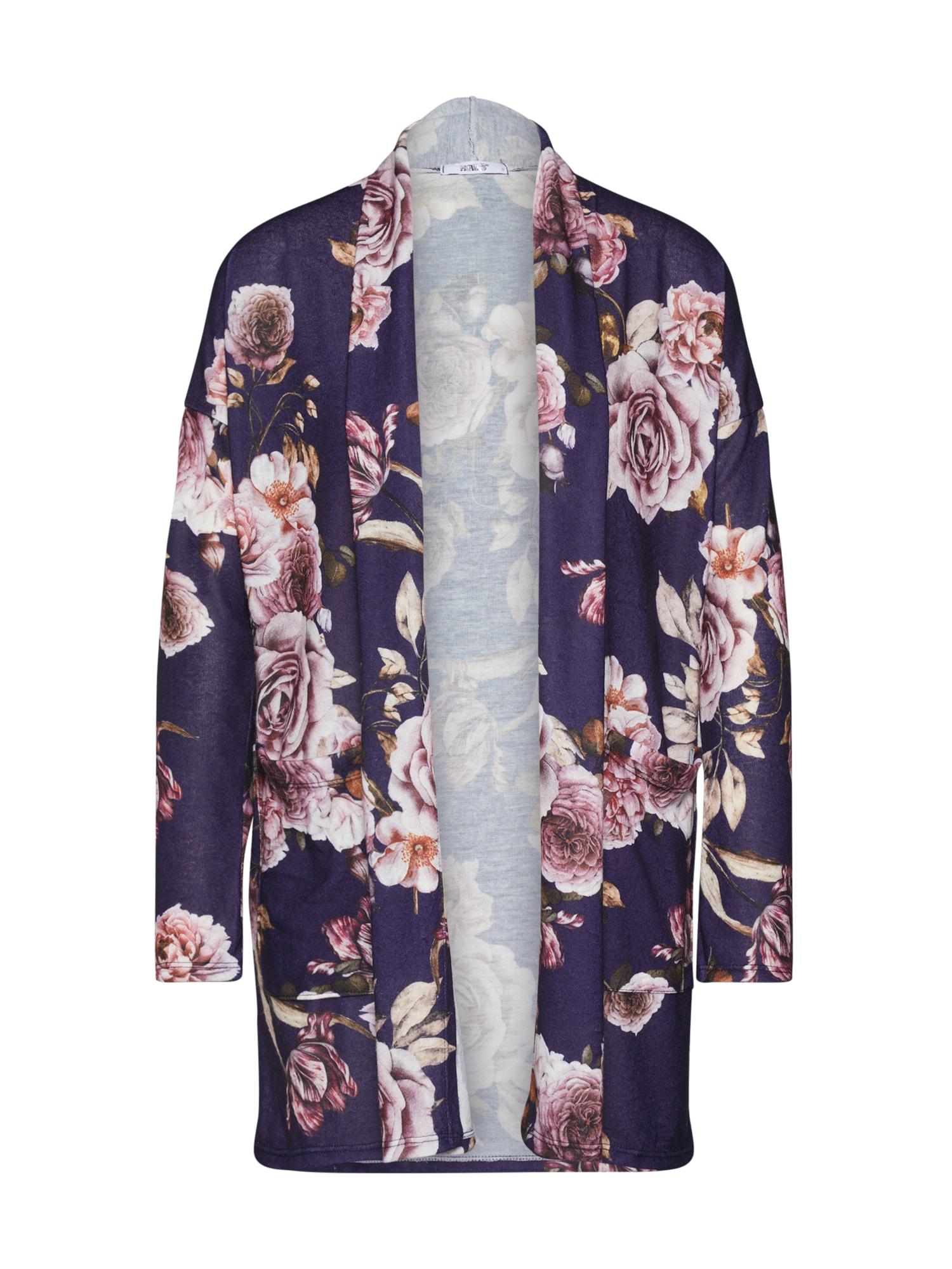 Hailys Kardiganas 'Malina' tamsiai mėlyna / rožių spalva