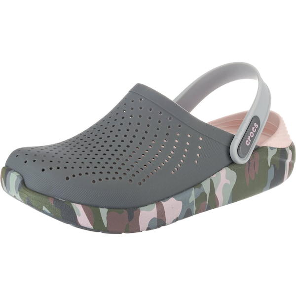 Clogs für Frauen - Crocs Clogs 'LiteRide Graphic' grau grün altrosa  - Onlineshop ABOUT YOU