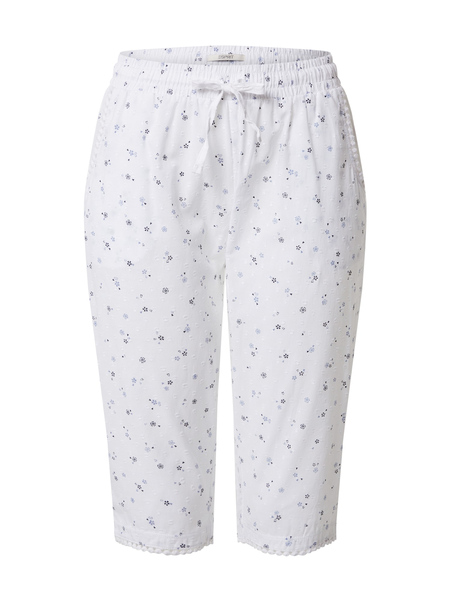 ESPRIT Pyžamové nohavice  biela / modré