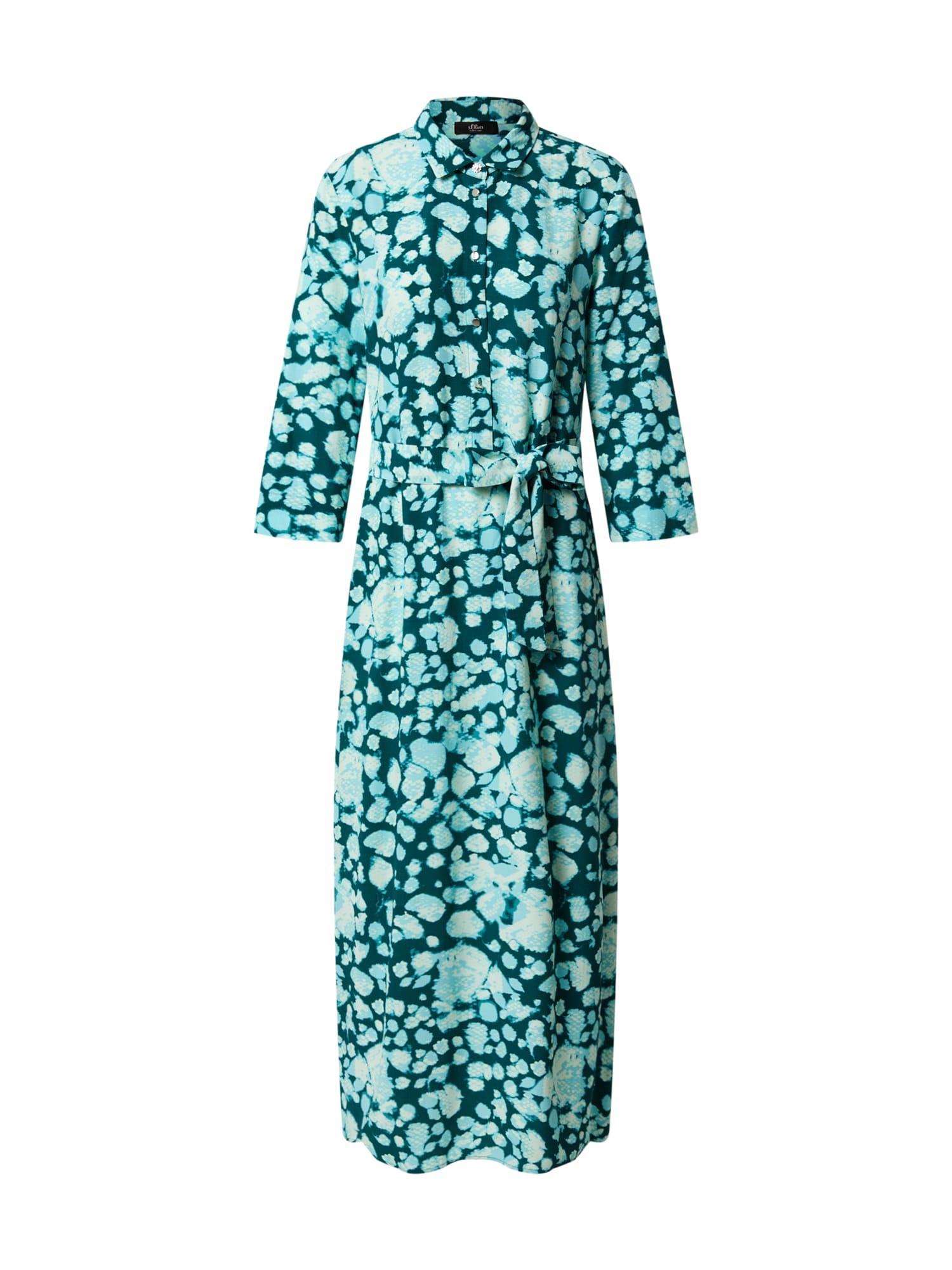 s.Oliver BLACK LABEL Košeľové šaty  mätová / smaragdová