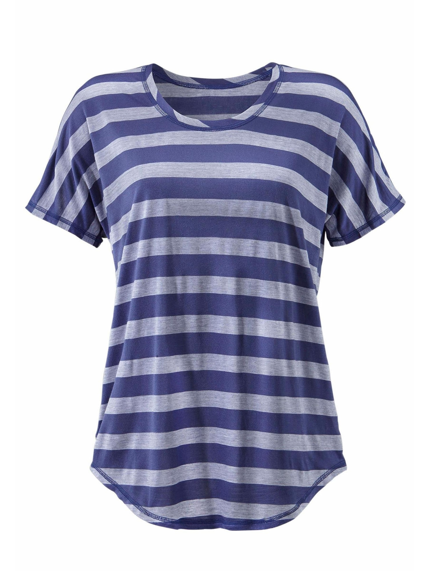 BEACH TIME Marškinėliai tamsiai mėlyna / šviesiai pilka