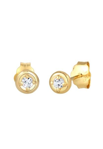 Ohrringe - Ohrringe Solitär, Ohrstecker › ELLI PREMIUM › gold  - Onlineshop ABOUT YOU