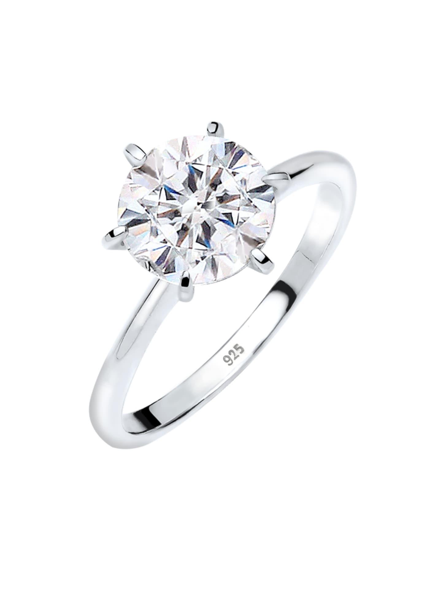 ELLI Žiedas balta / sidabrinė