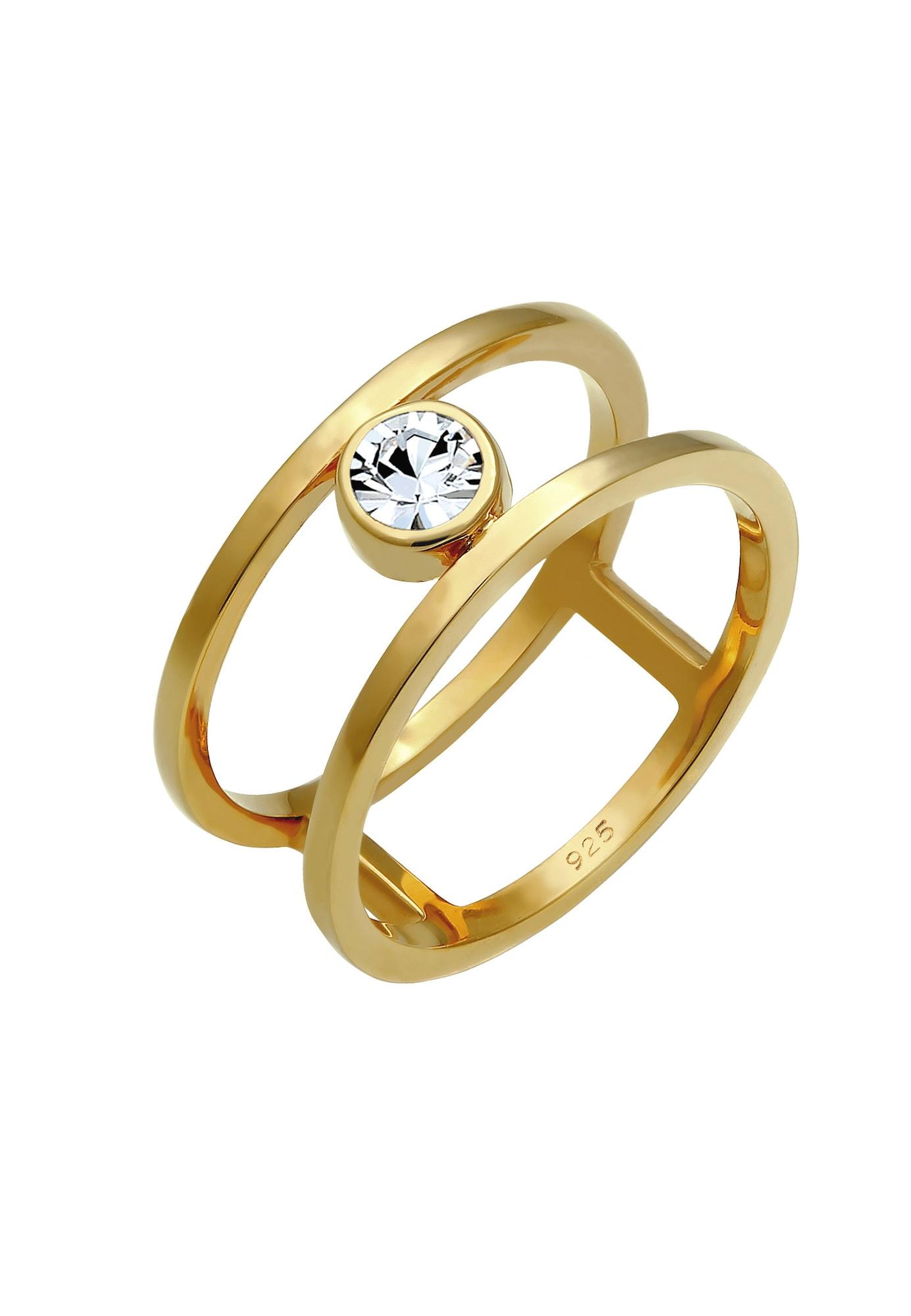 Ring Kristall Ring, Solitär-Ring | Schmuck > Ringe > Solitär Ringe | ELLI PREMIUM