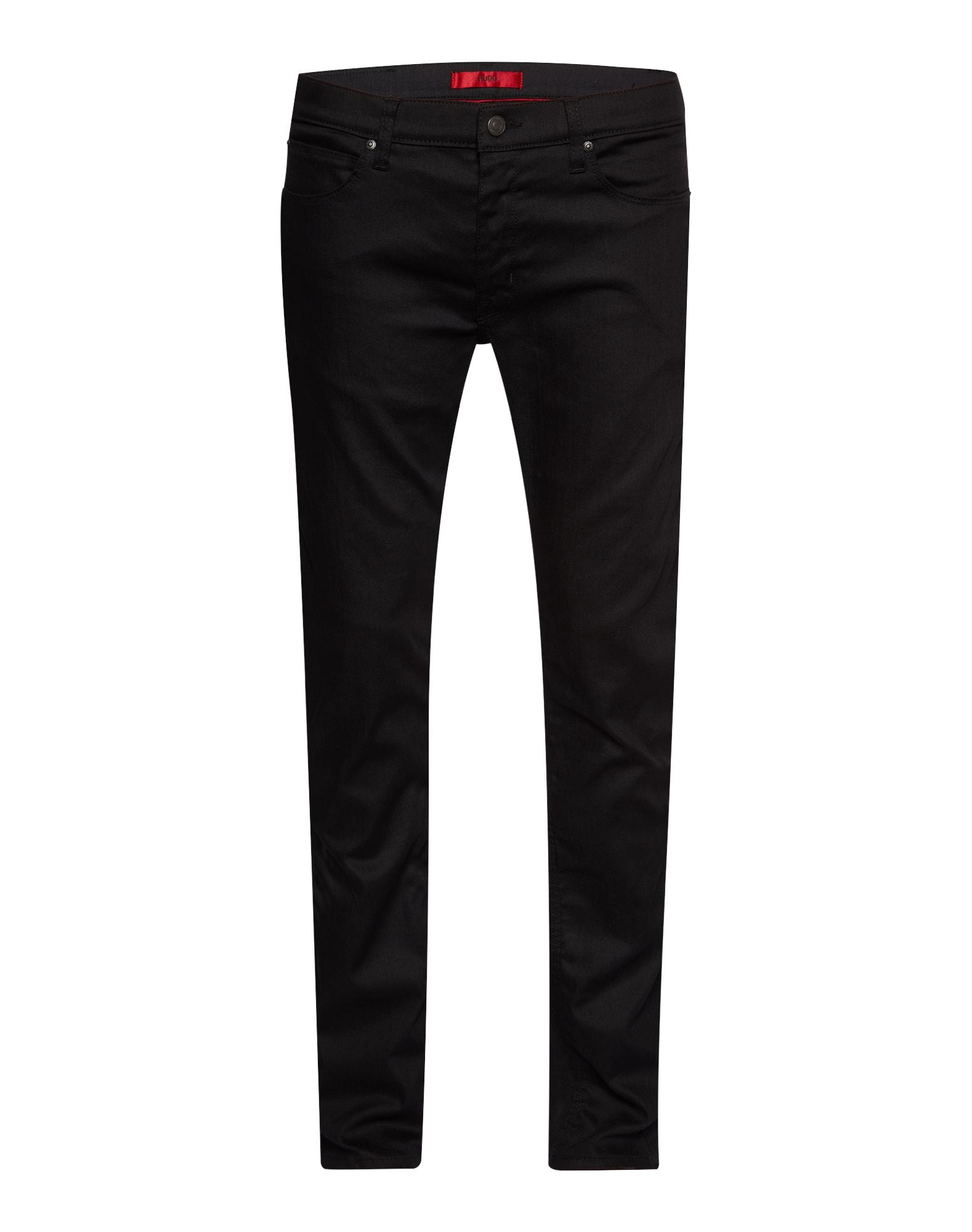HUGO Džinsai '708' juodo džinso spalva