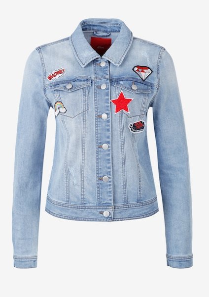 s.Oliver RED LABEL Jeansjacke mit Patches