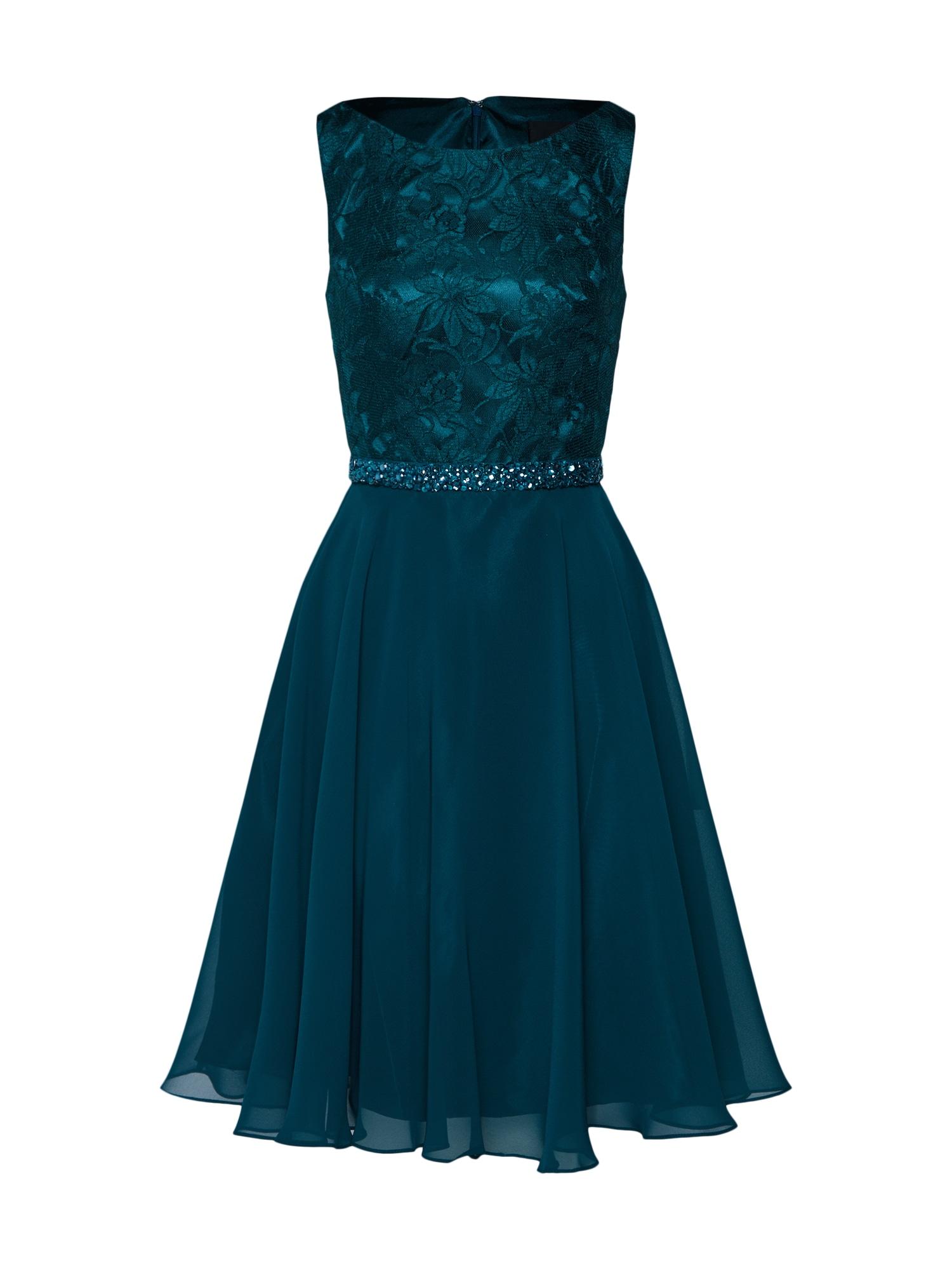 Koktejlové šaty tmavě zelená Mascara