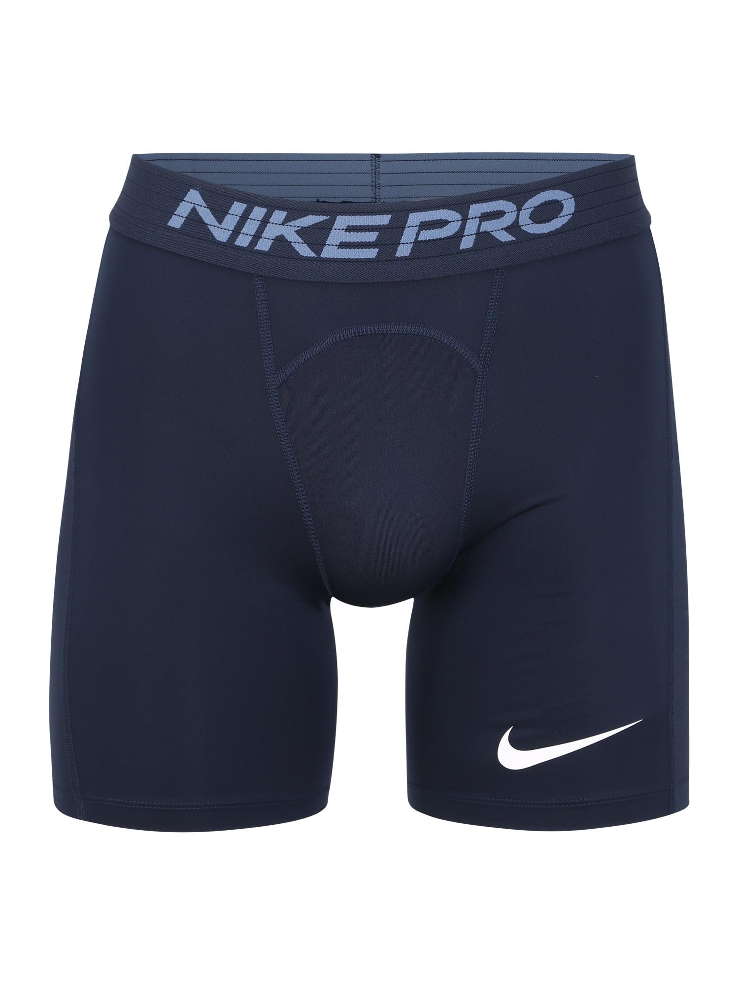 NIKE Sportinės kelnės 'Nike Pro' tamsiai mėlyna