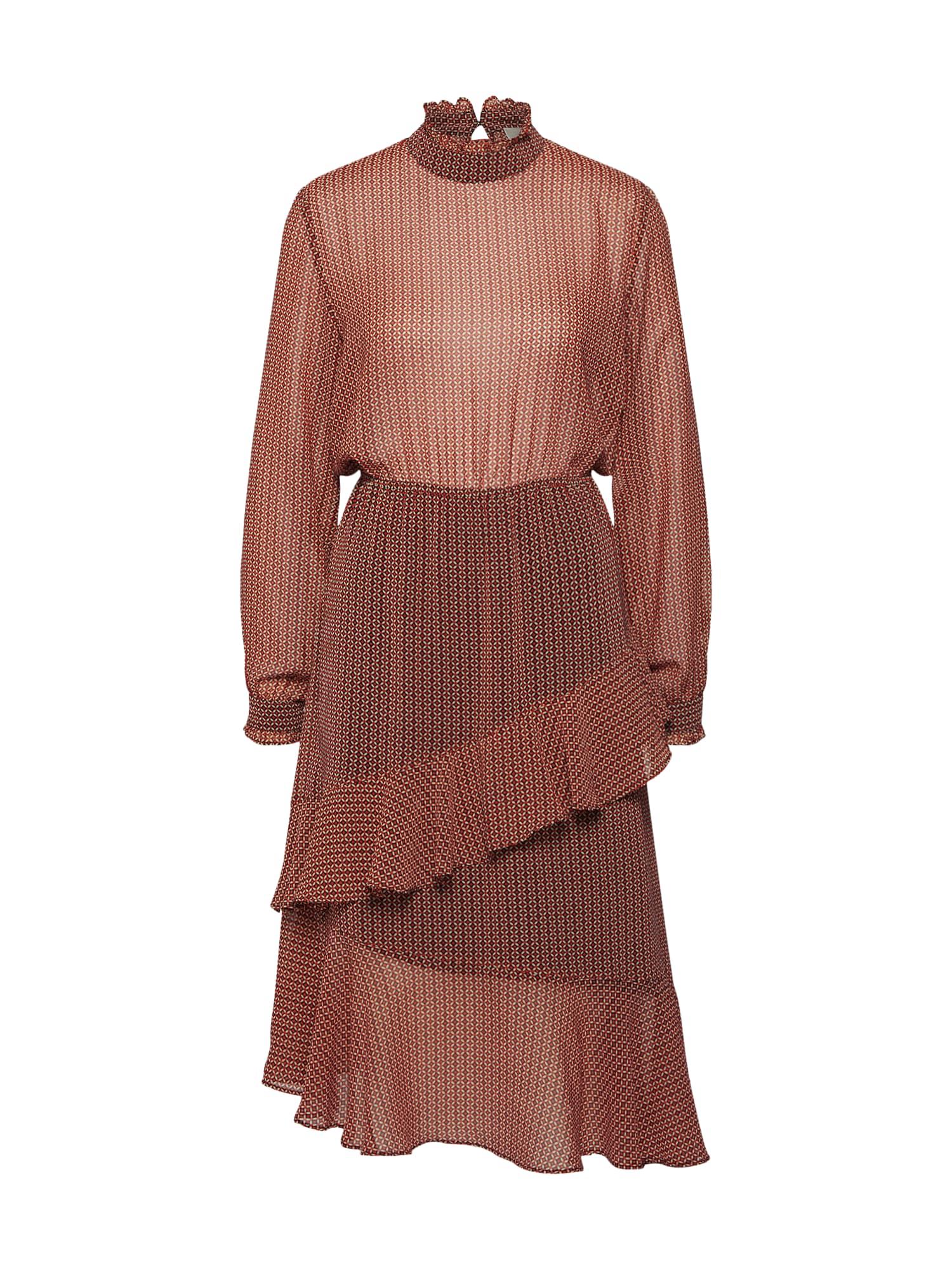 Šaty Leen Dress červená SECOND FEMALE