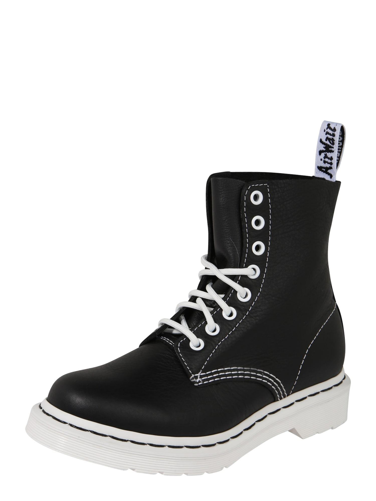 Dr. Martens Suvarstomieji batai balta / juoda