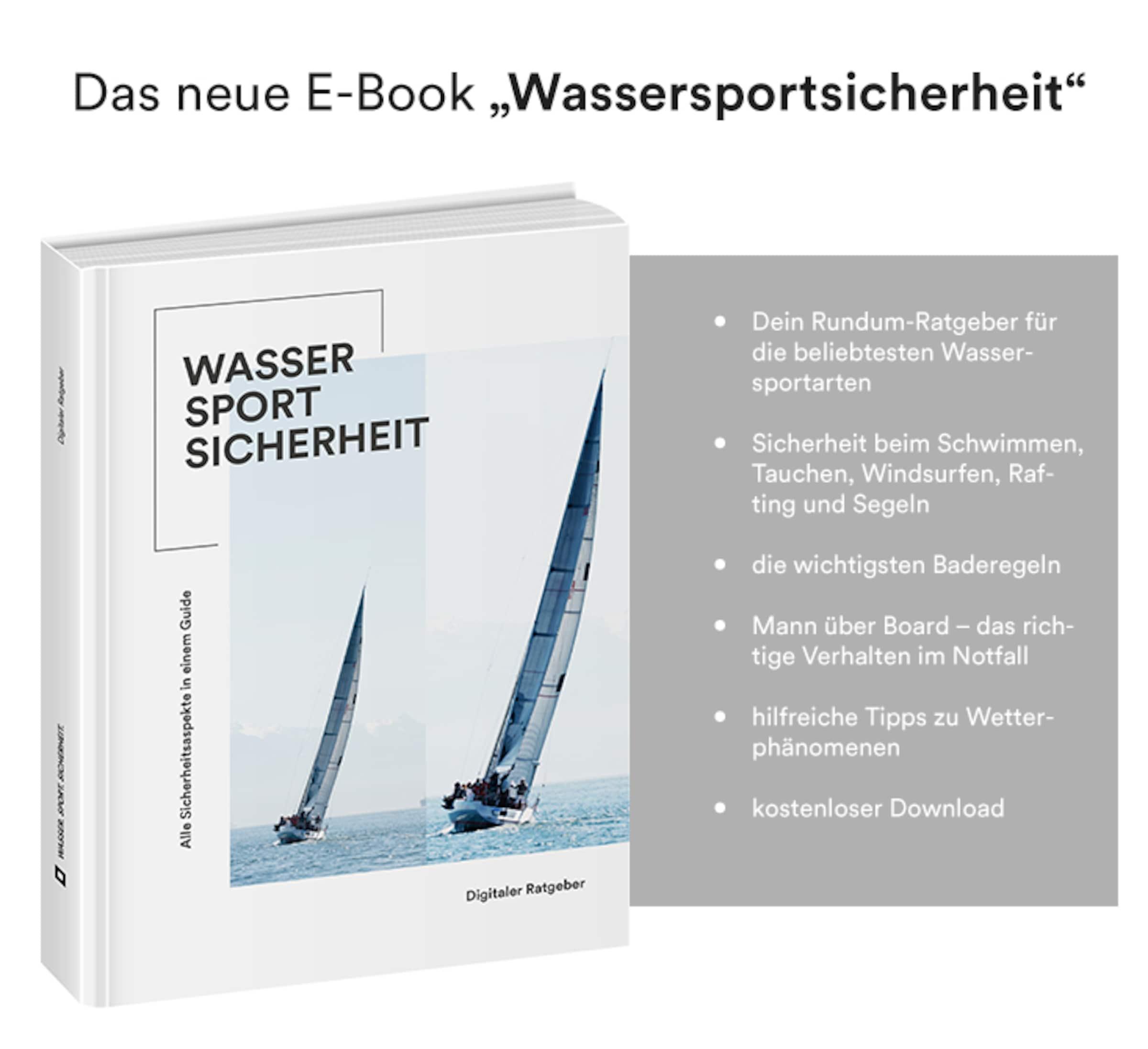 Das neue E-Book 'Wassersportsicherheit'