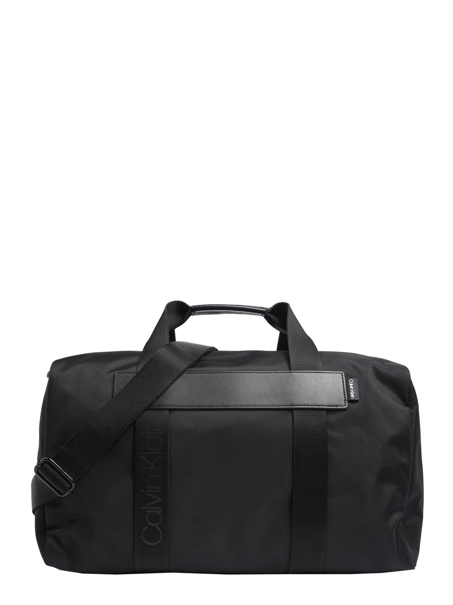 Calvin Klein Kelioninis krepšys 'NASTRO LOGO WEEKENDER' juoda