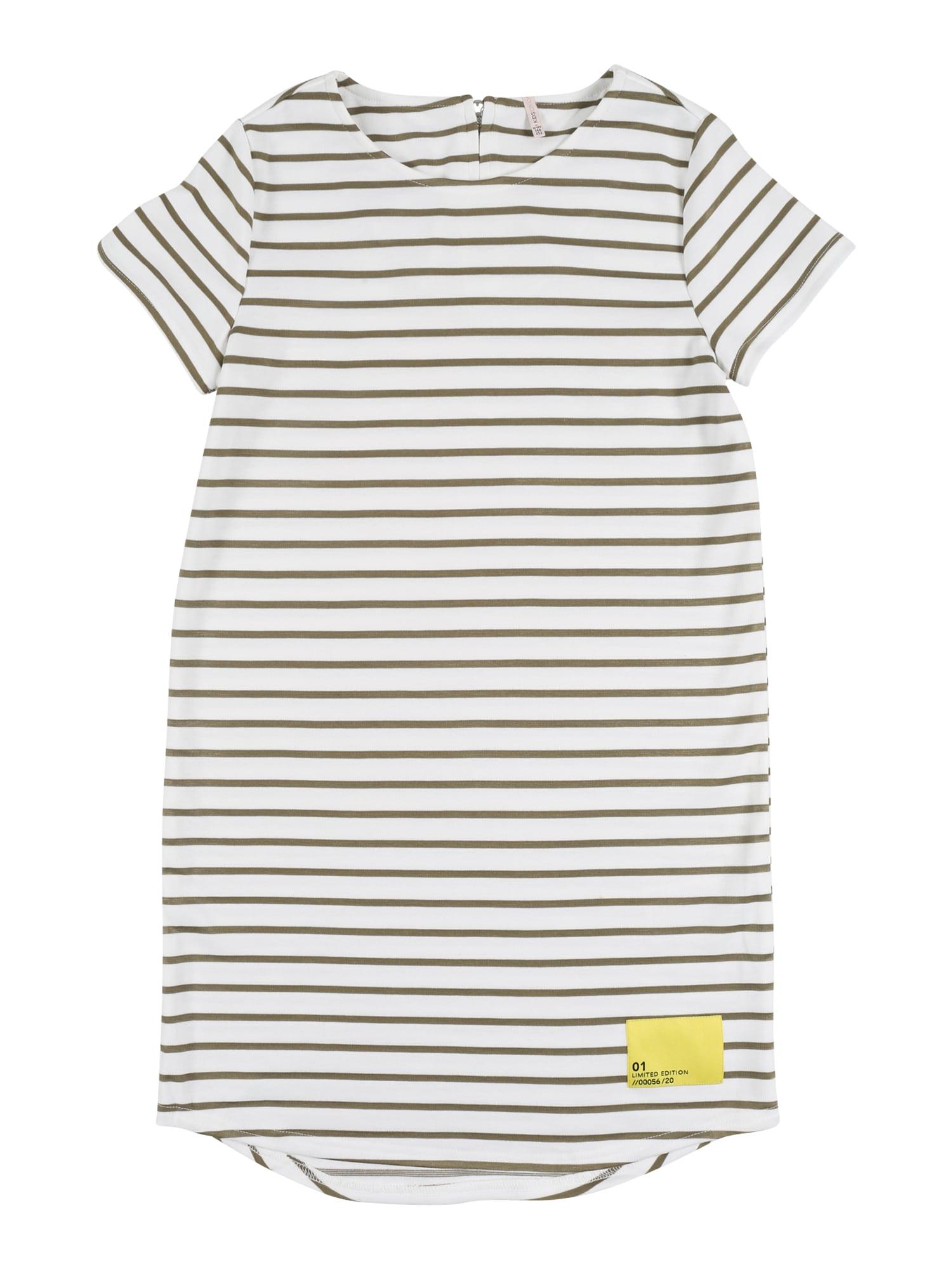 KIDS ONLY Suknelė 'KONKIMI S/S PATCH DRESS JRS' kremo / alyvuogių spalva