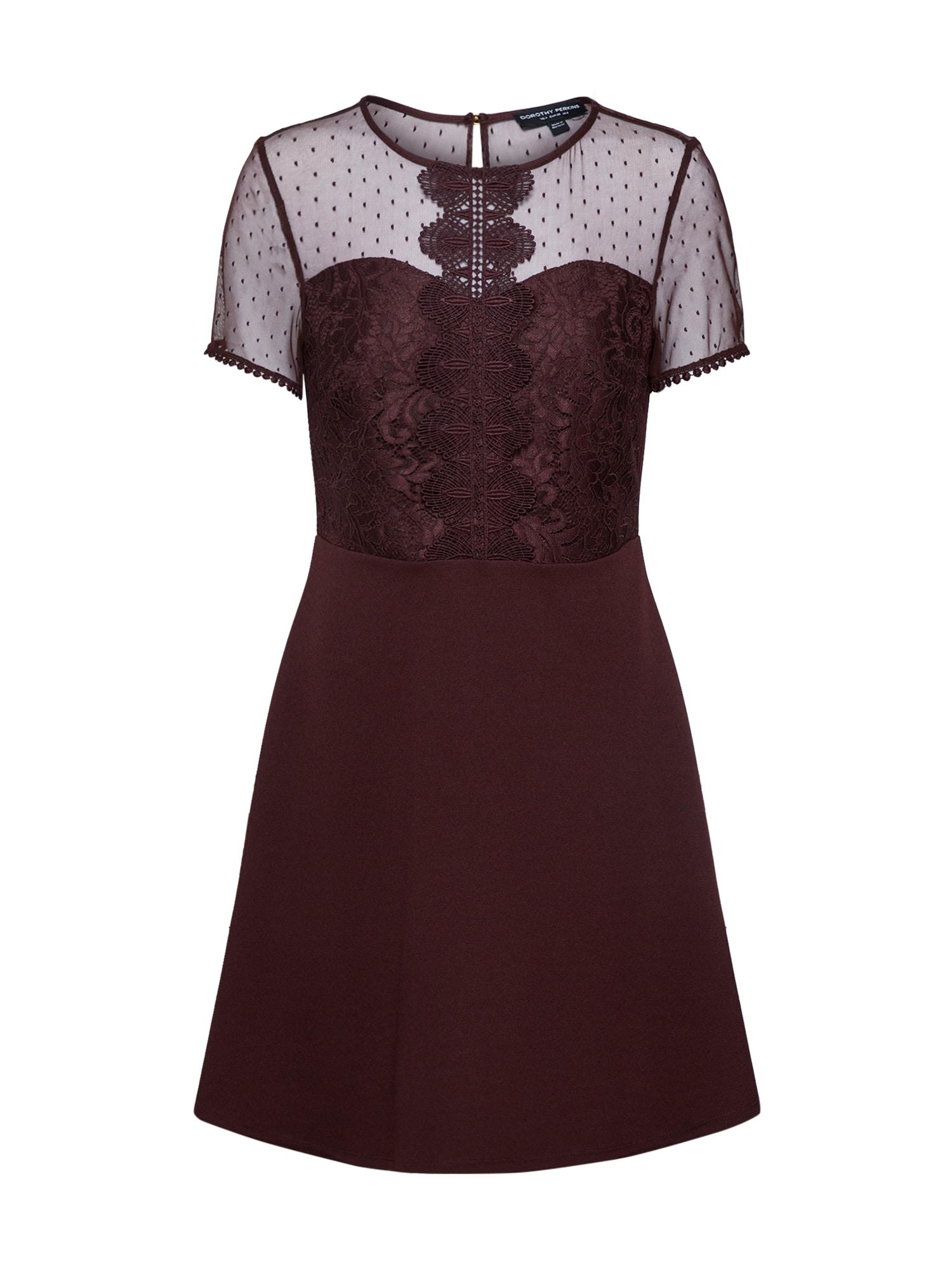 Dorothy Perkins Trumpa kokteilinė suknelė vyno raudona spalva