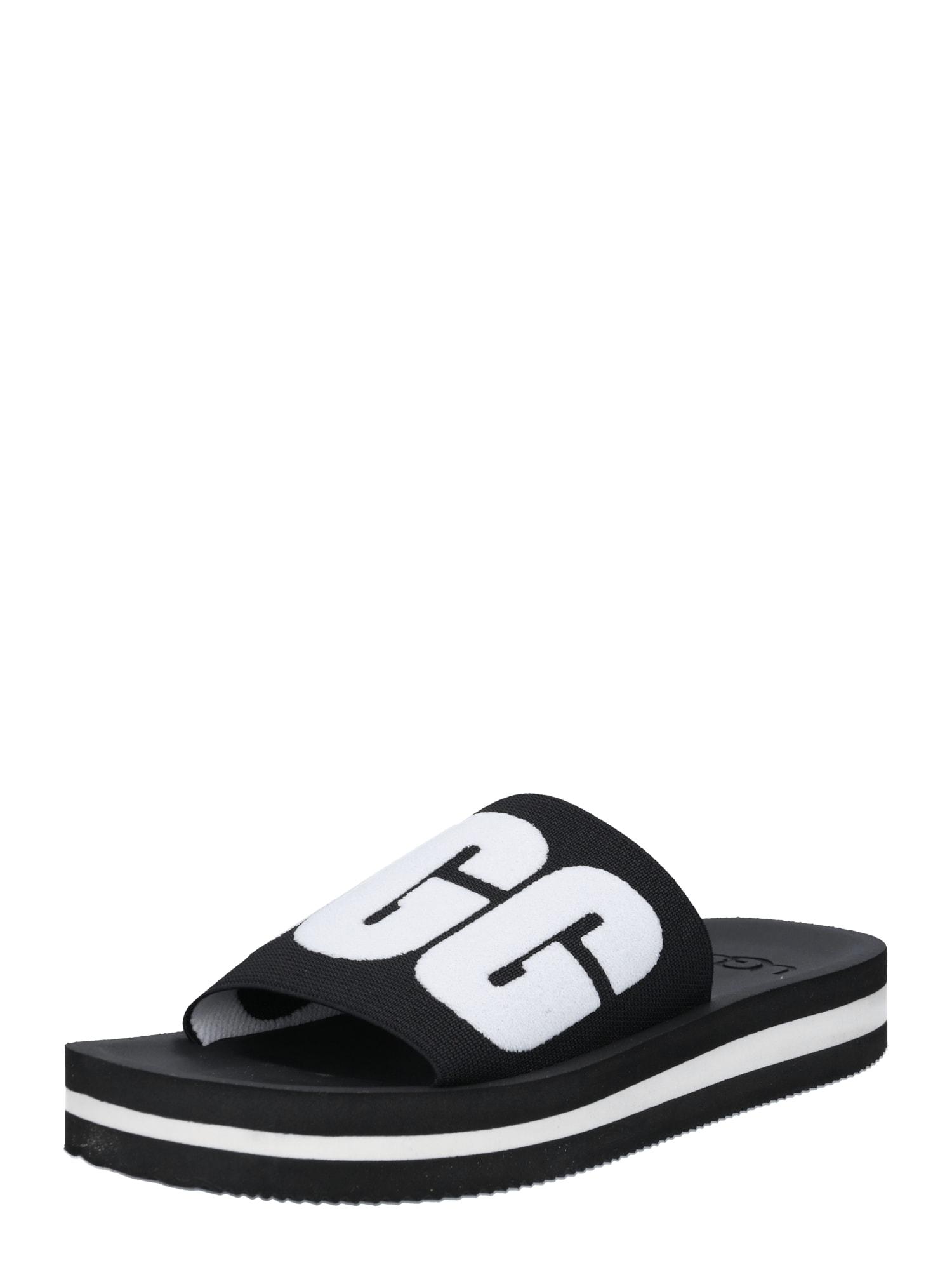 Pantofle Zuma Graphic černá bílá UGG