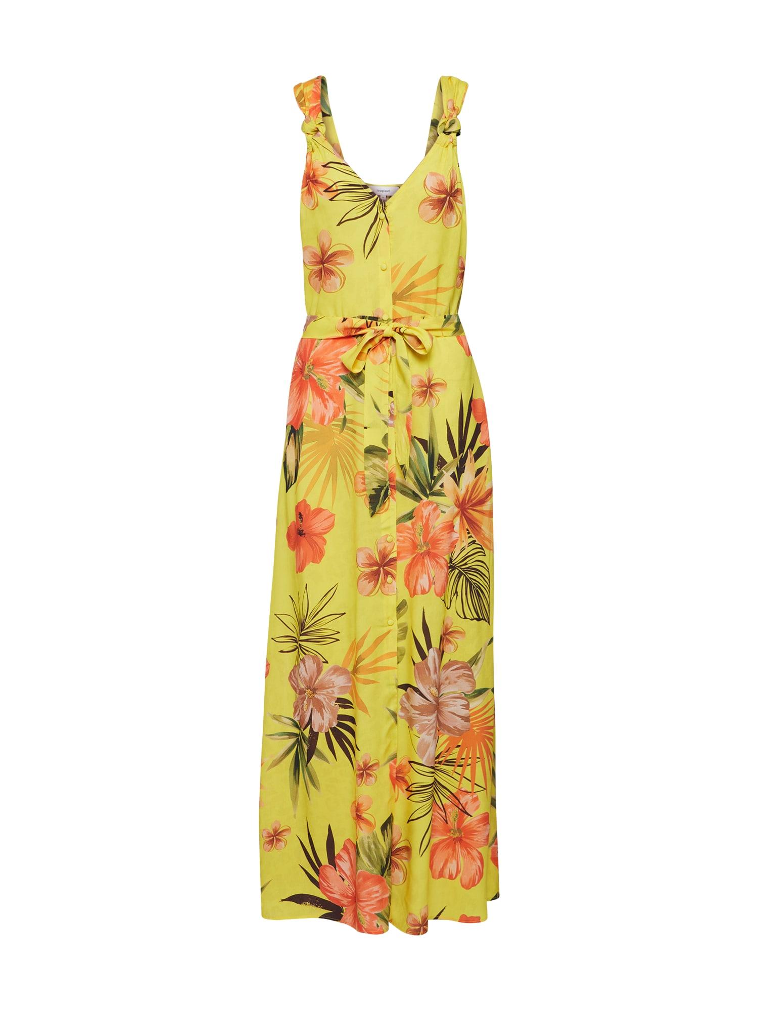 Desigual Vasarinė suknelė 'Corcega' žalia / geltona / oranžinė