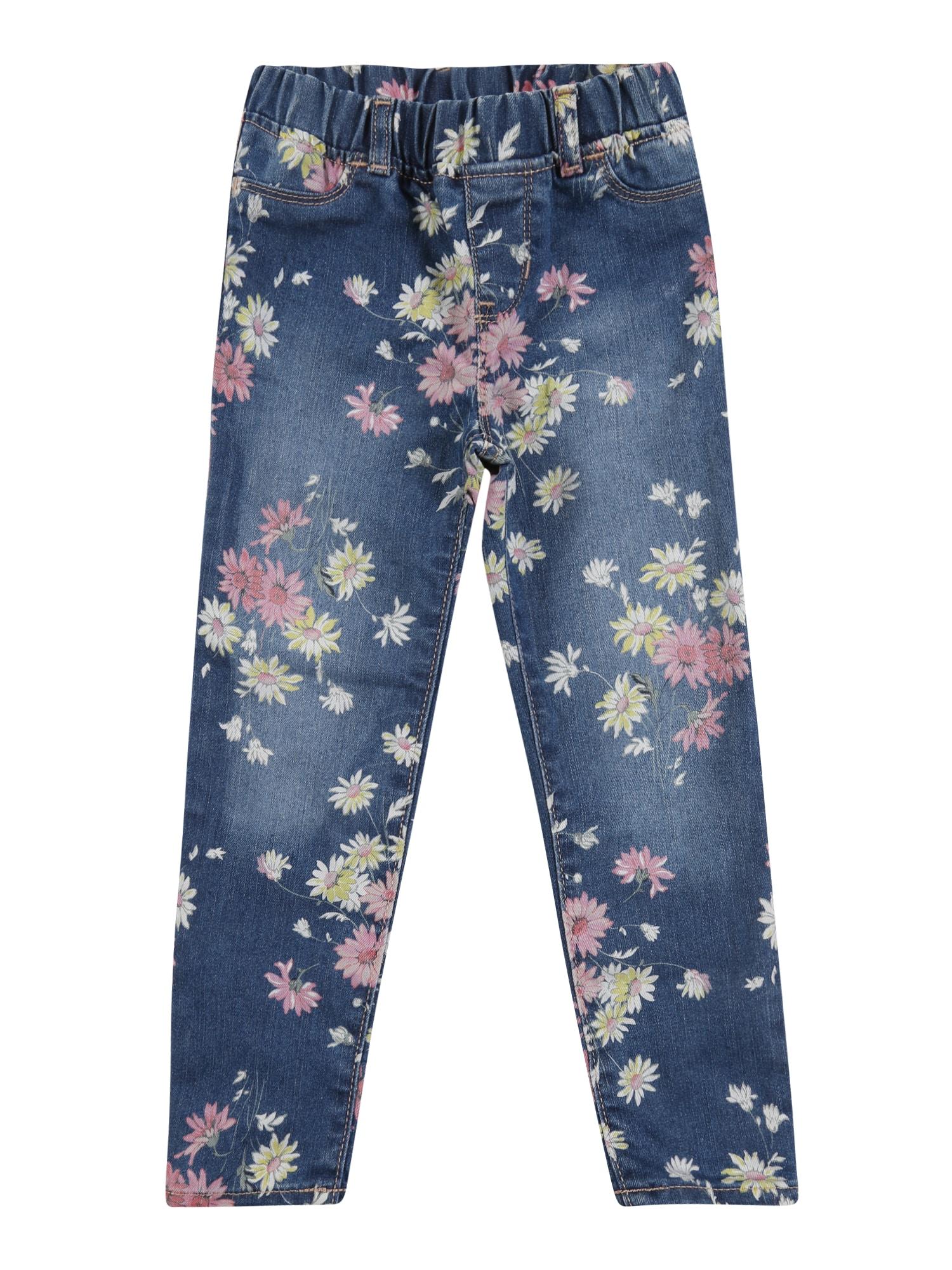 GAP Kelnės 'V-DAISY JEG' tamsiai (džinso) mėlyna / rožinė / šviesiai geltona