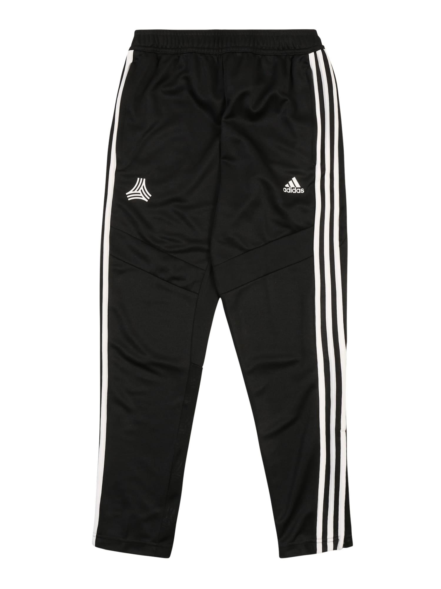 ADIDAS PERFORMANCE Športové nohavice 'Tan'  biela / čierna