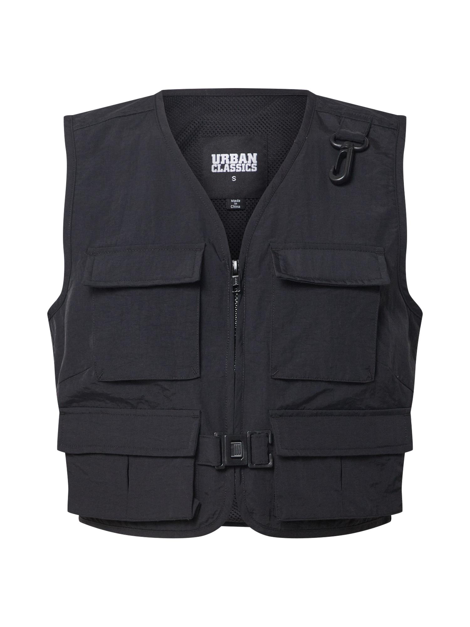 Urban Classics Liemenė 'Ladies Short Tactical Vest' juoda