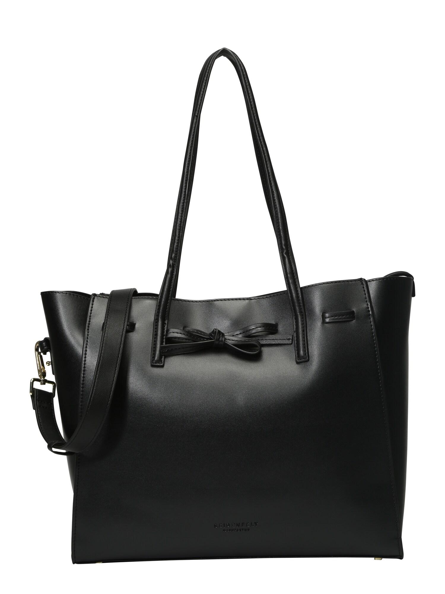 Nákupní taška Tonder černá Seidenfelt Manufaktur