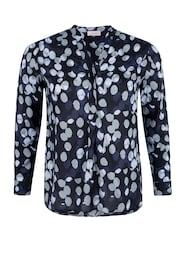 TRIANGLE Damen Viskose-Bluse mit Punktemuster blau | 04057666587099