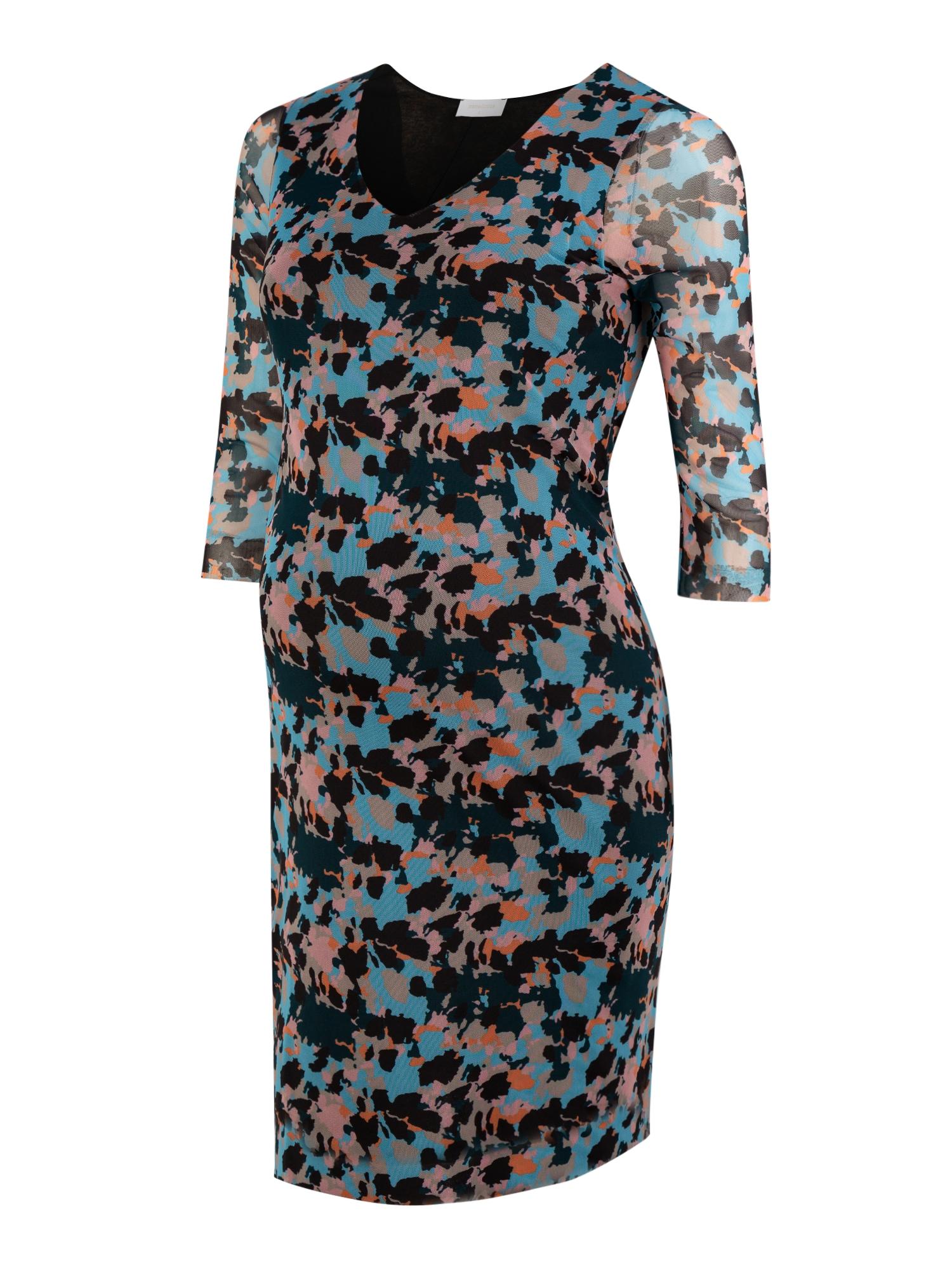 MAMALICIOUS Suknelė 'MLALLY 3/4 JERSEY ABK DRESS' šviesiai mėlyna