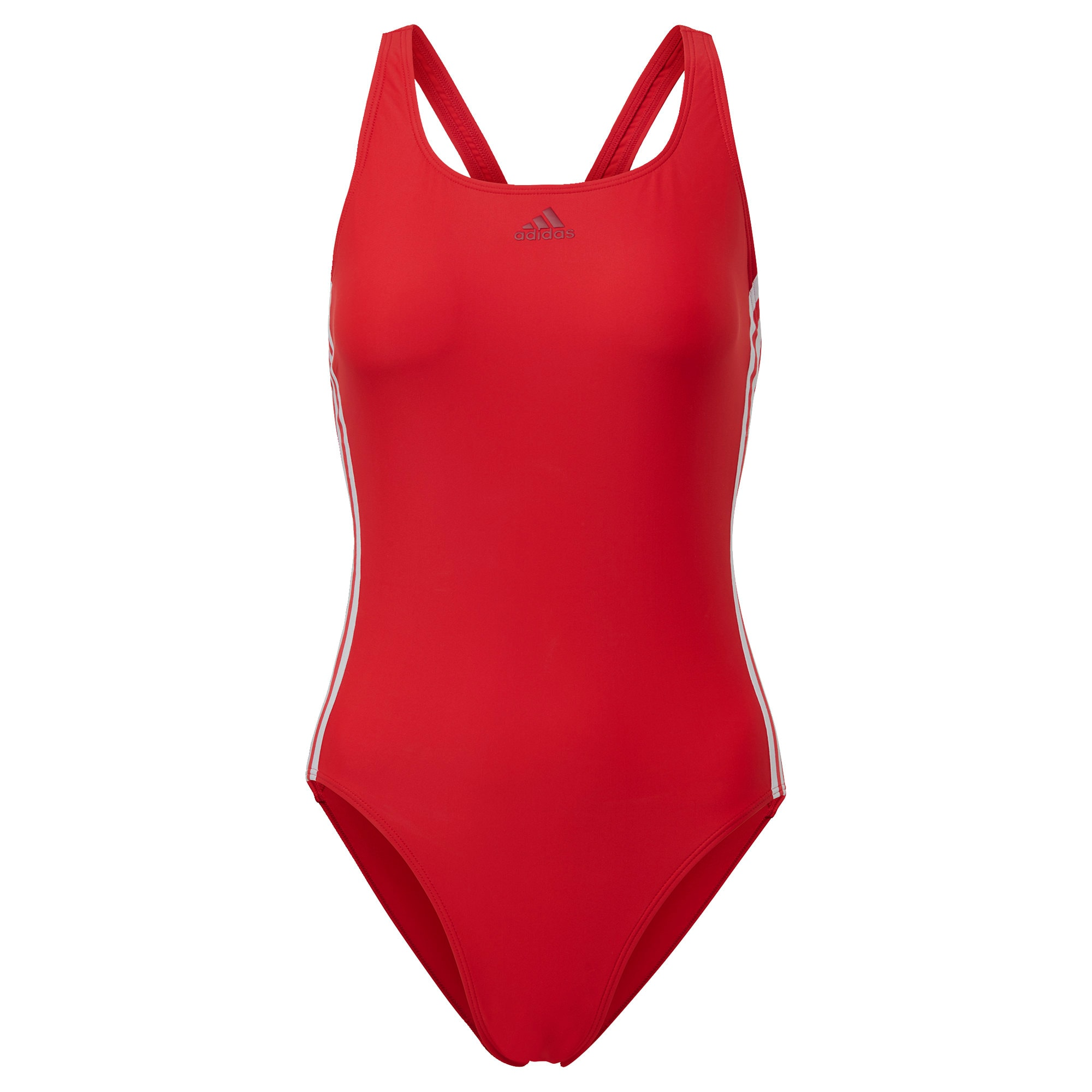 ADIDAS PERFORMANCE Sportinis maudymosi kostiumėlis raudona / balta