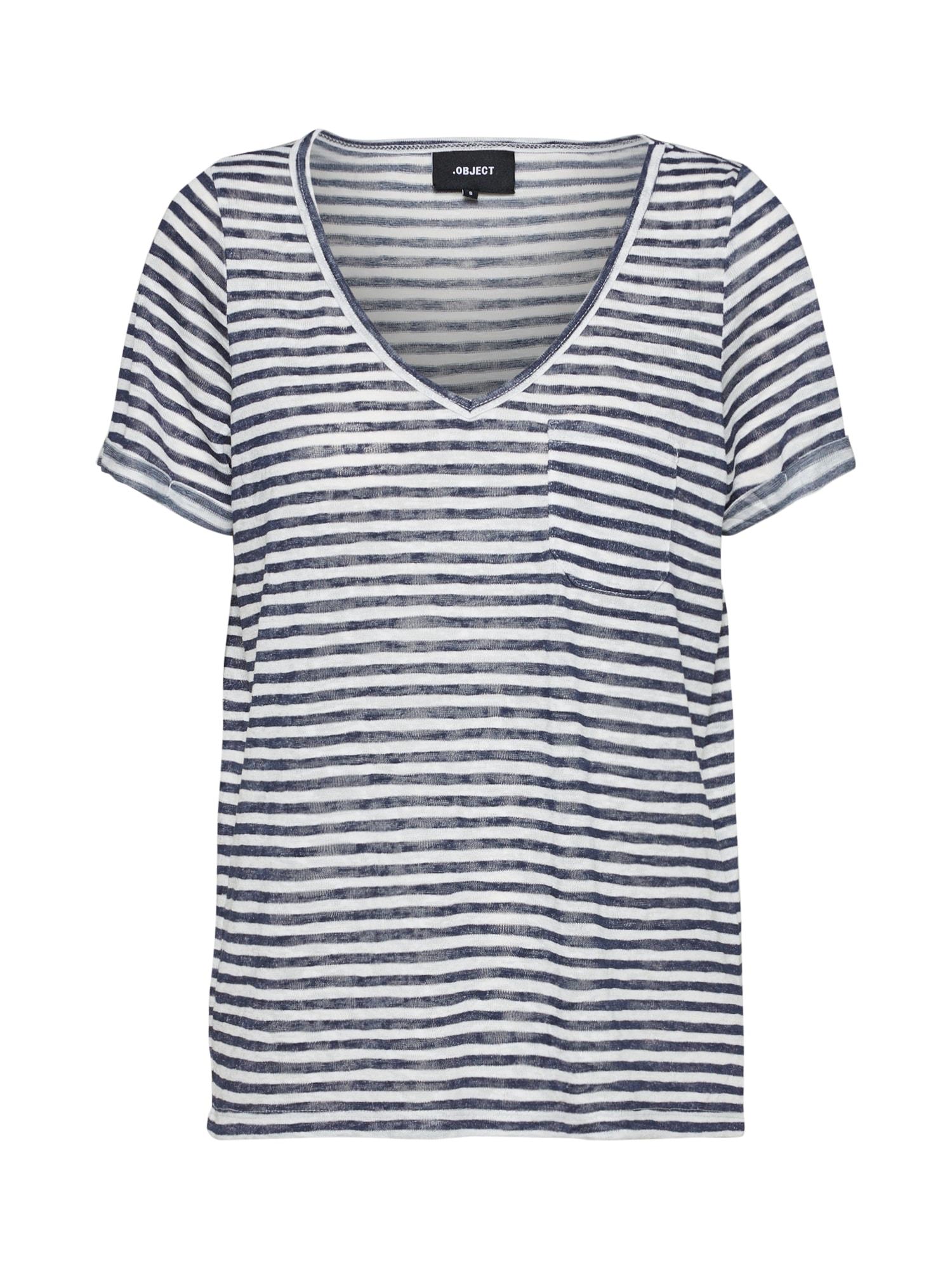 OBJECT Tričko  modrá / bílá