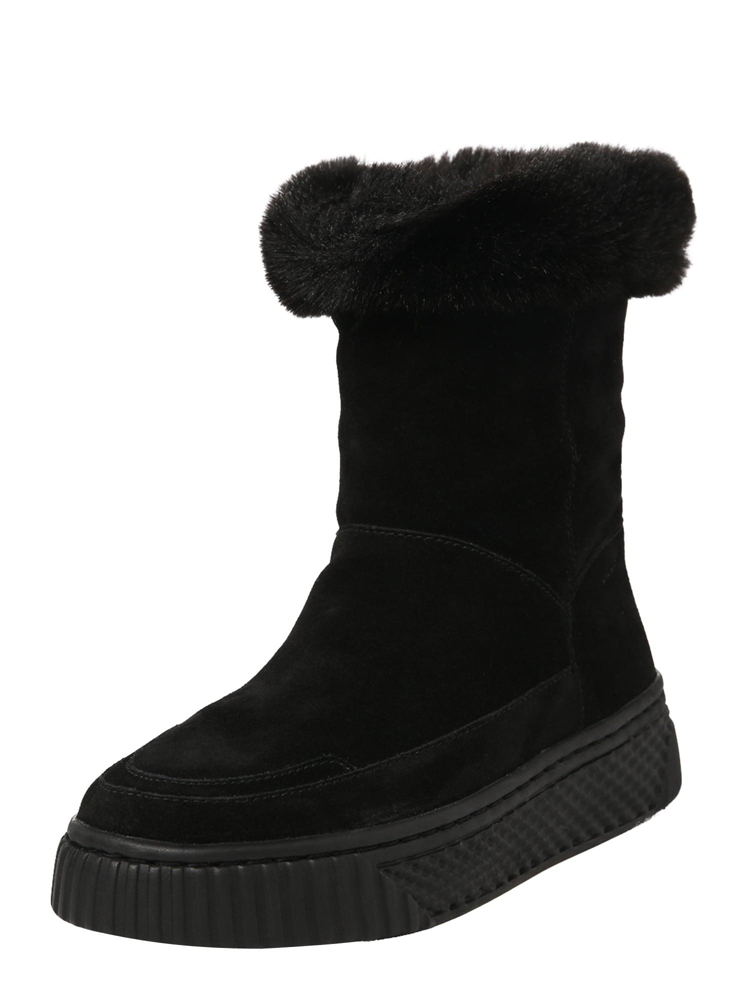 GEOX Auliniai batai su kulniuku 'D Licena' juoda