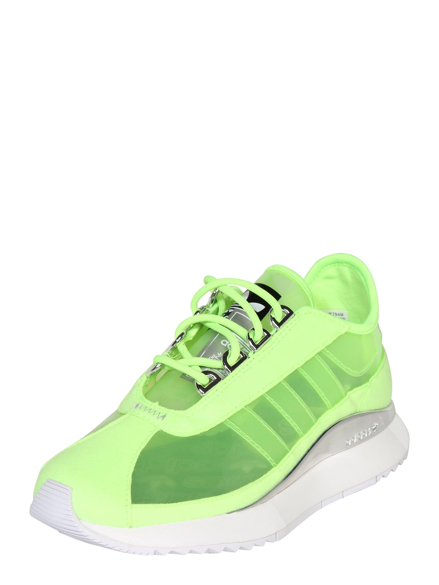 ADIDAS ORIGINALS Sportbačiai be auliuko neoninė geltona / neoninė žalia