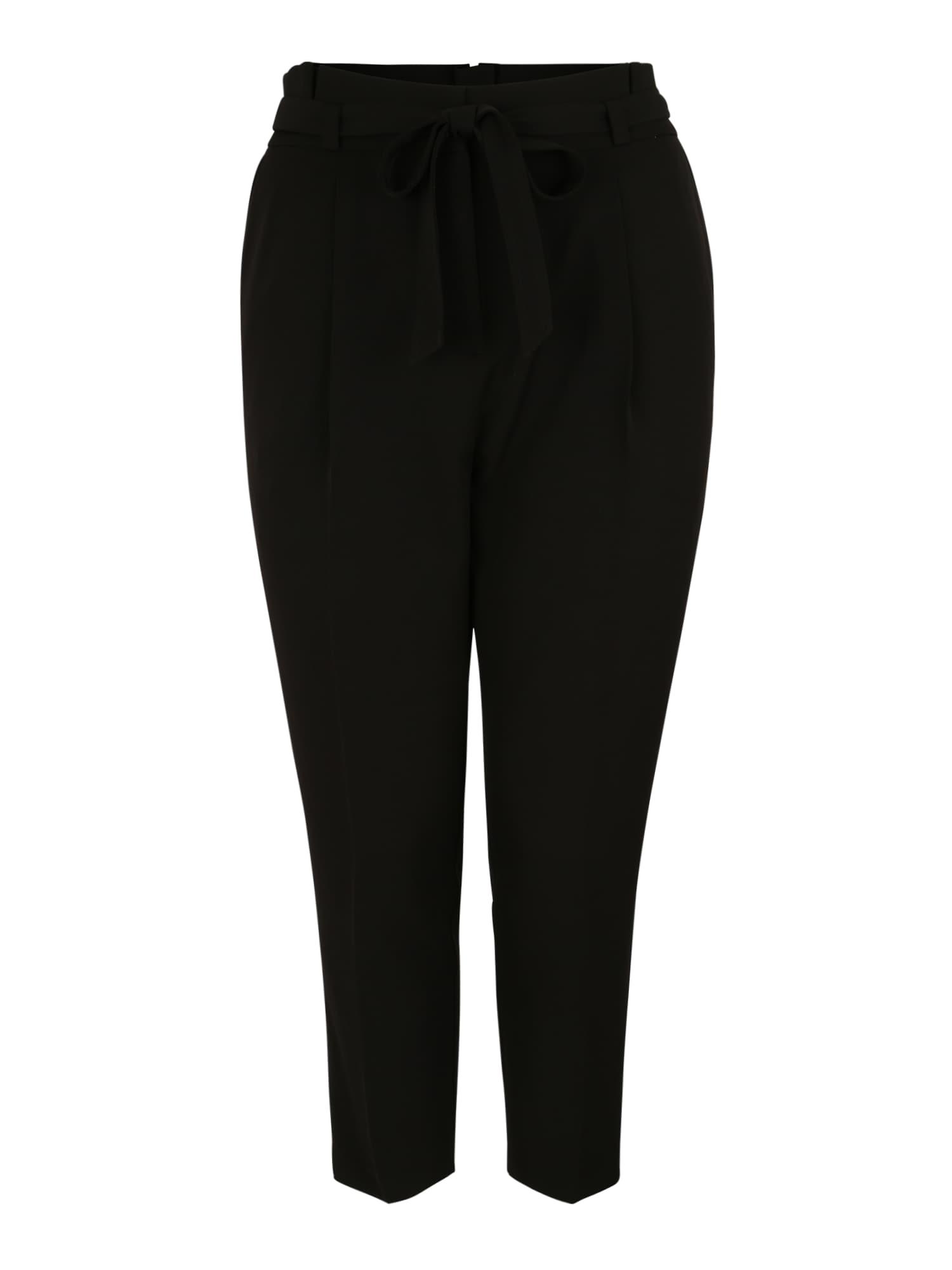 Kalhoty se sklady v pase MILLER  černá New Look Curves
