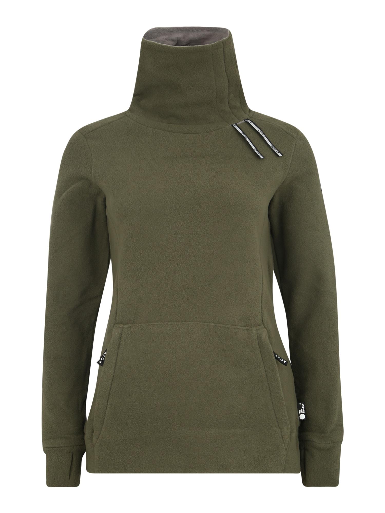 ROXY Sportinio tipo megztinis 'DELTINE SPINDYE J OTLR' rusvai žalia