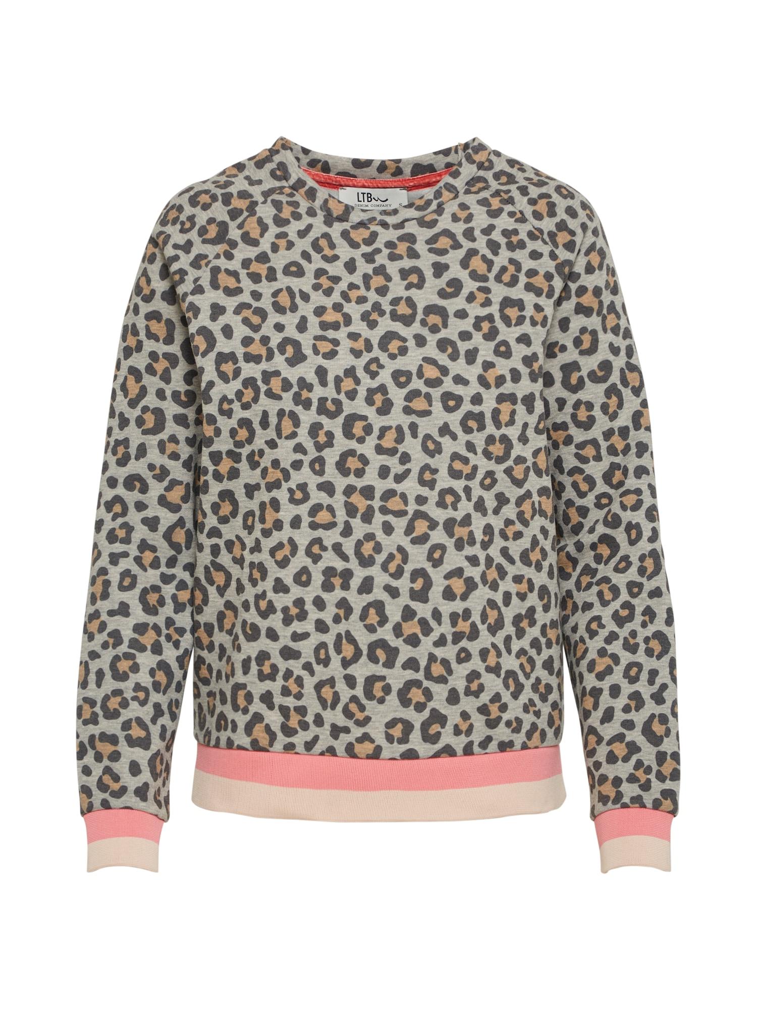 LTB Damen Pullover WETASO S T braun,grau,pink | 08697600733951