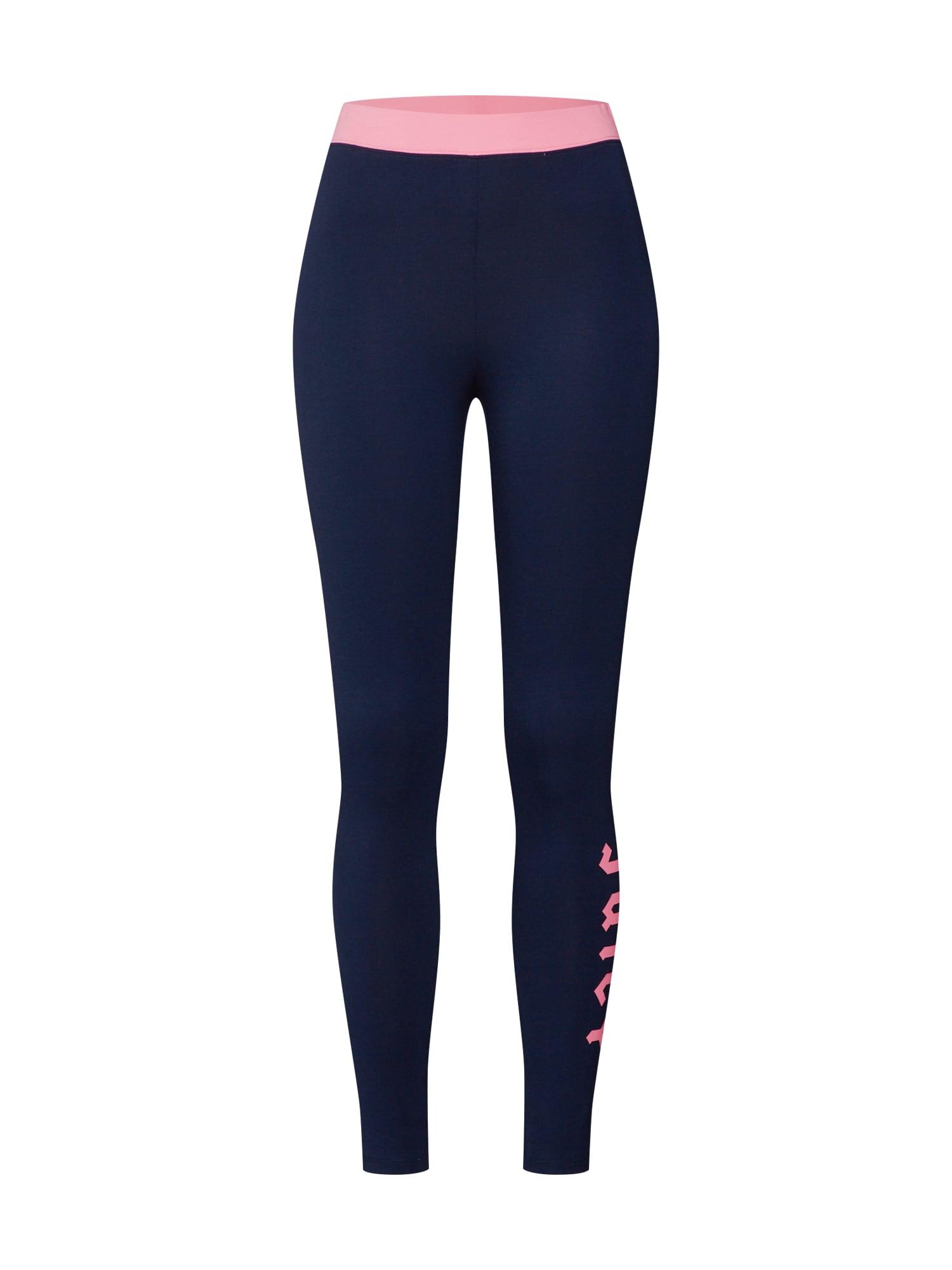 Kalhoty Logo Knit námořnická modř pink Juicy By Juicy Couture