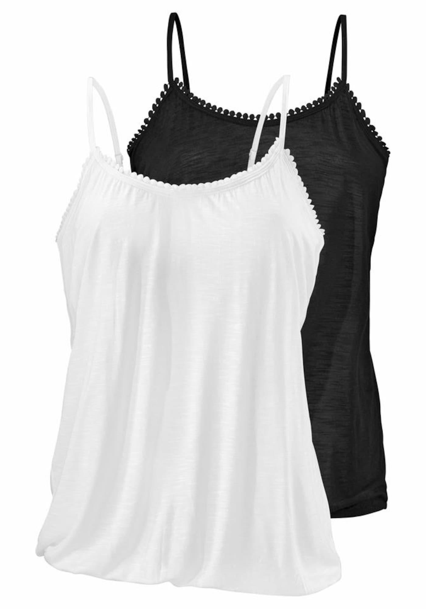 BEACH TIME Top  biela / čierna